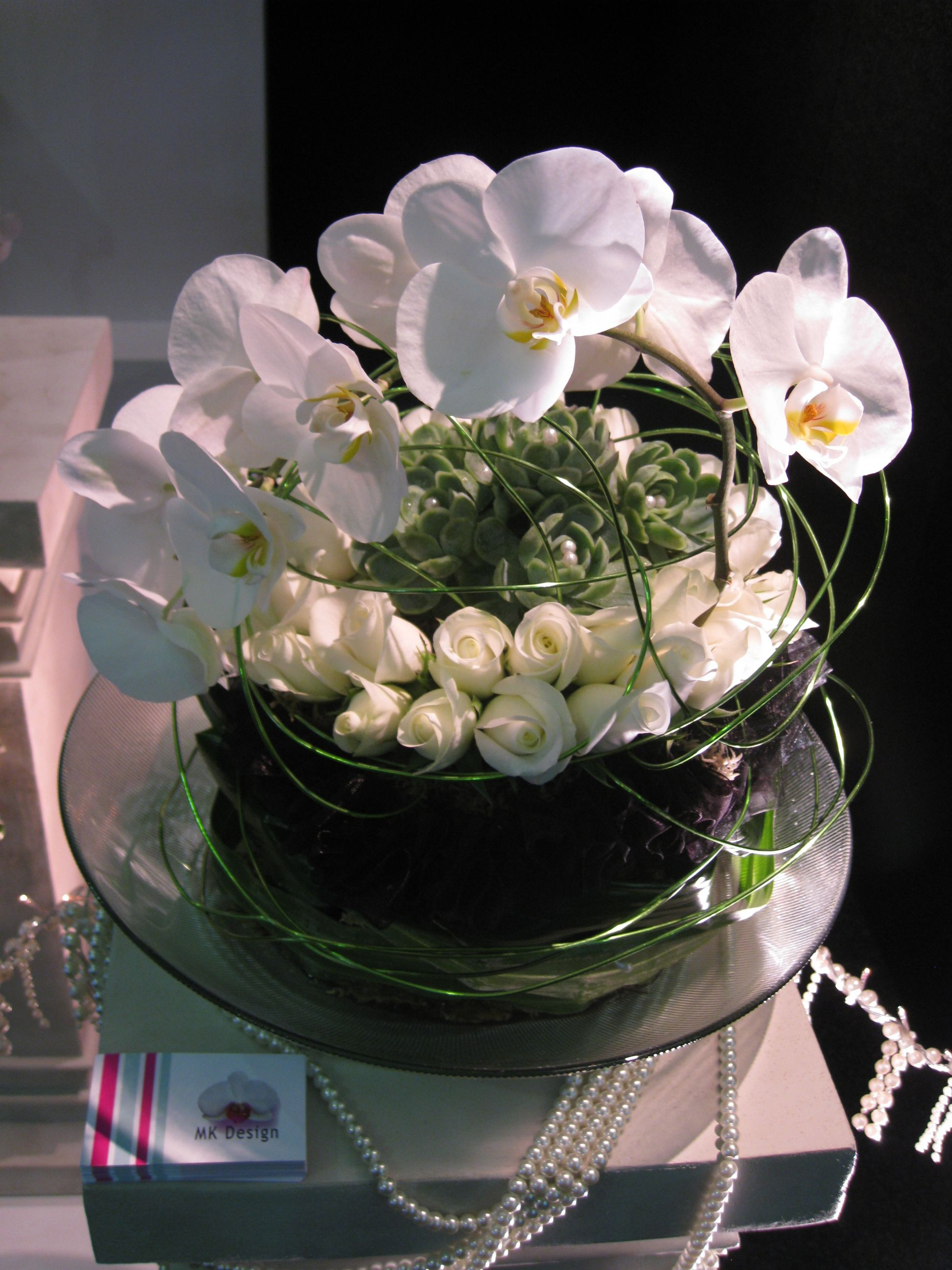 Pillar Flower Arrangement
