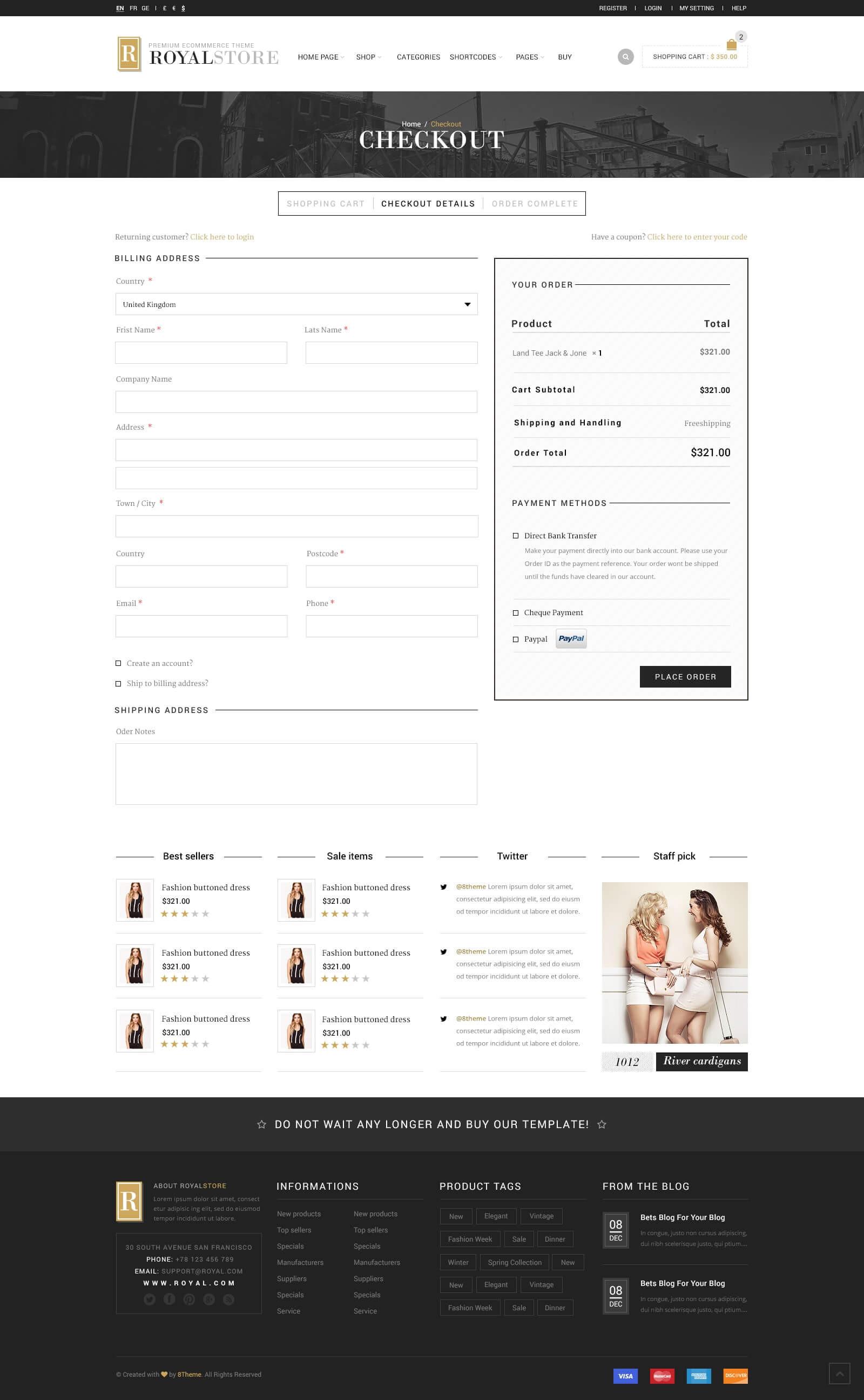 Royal Multi Purpose WordPress Theme