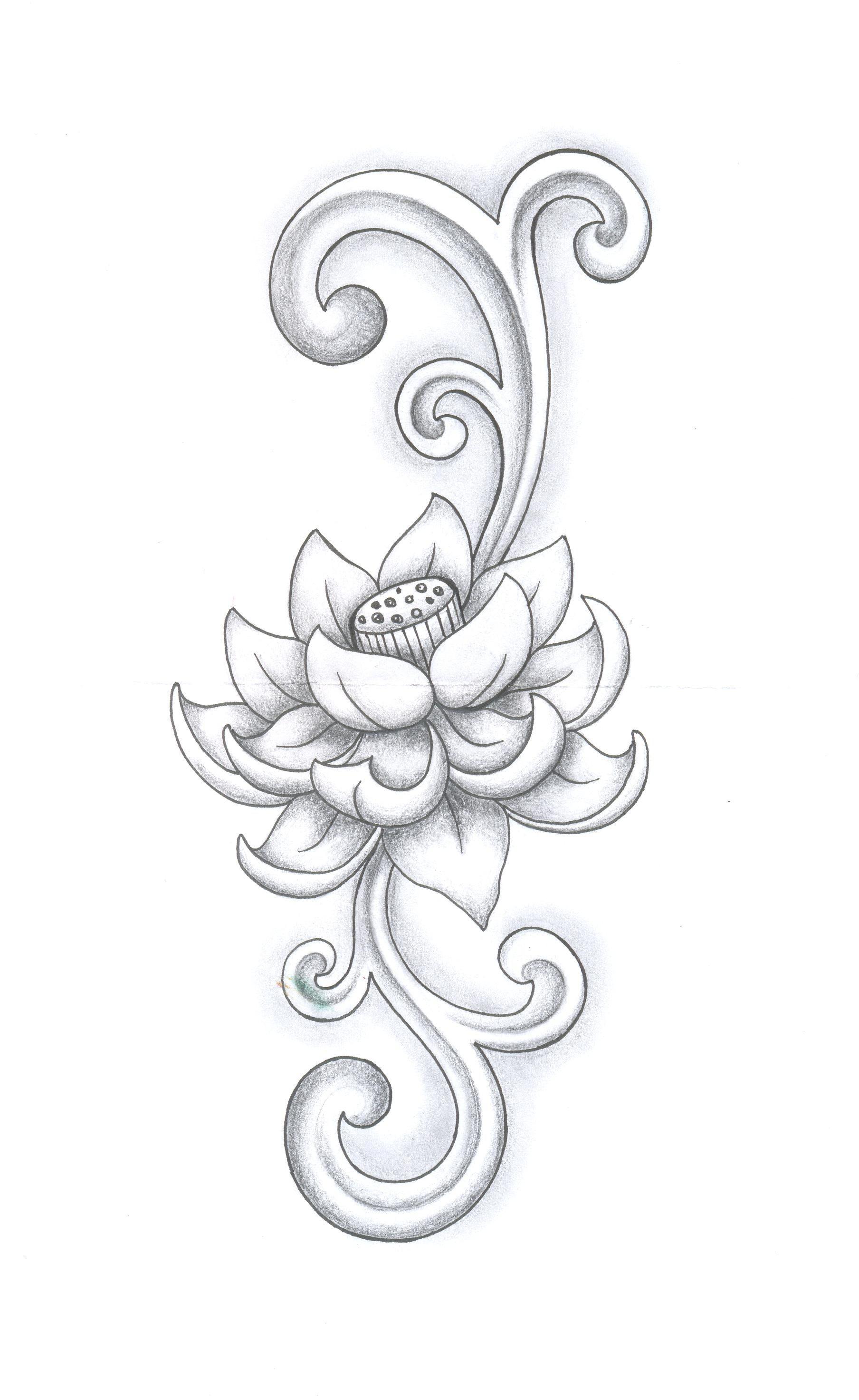 First L³tus Tattoo study Grafiti