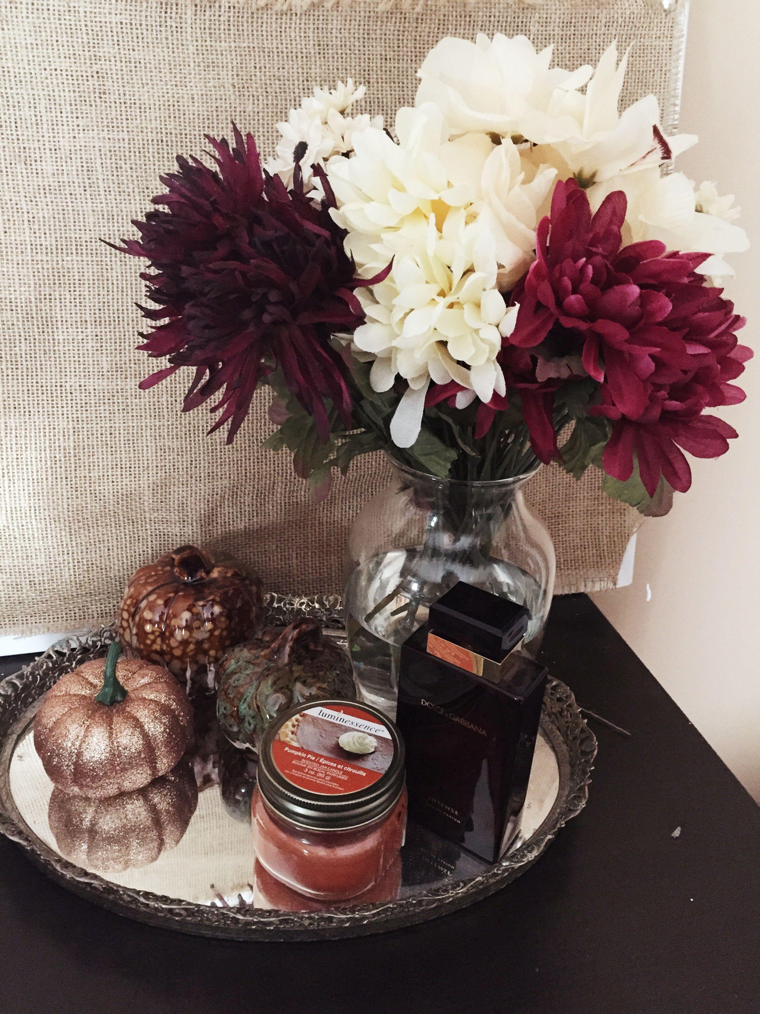 Styling Dollar Tree Fall Decorations My fall fake flower arrangement I diyed…
