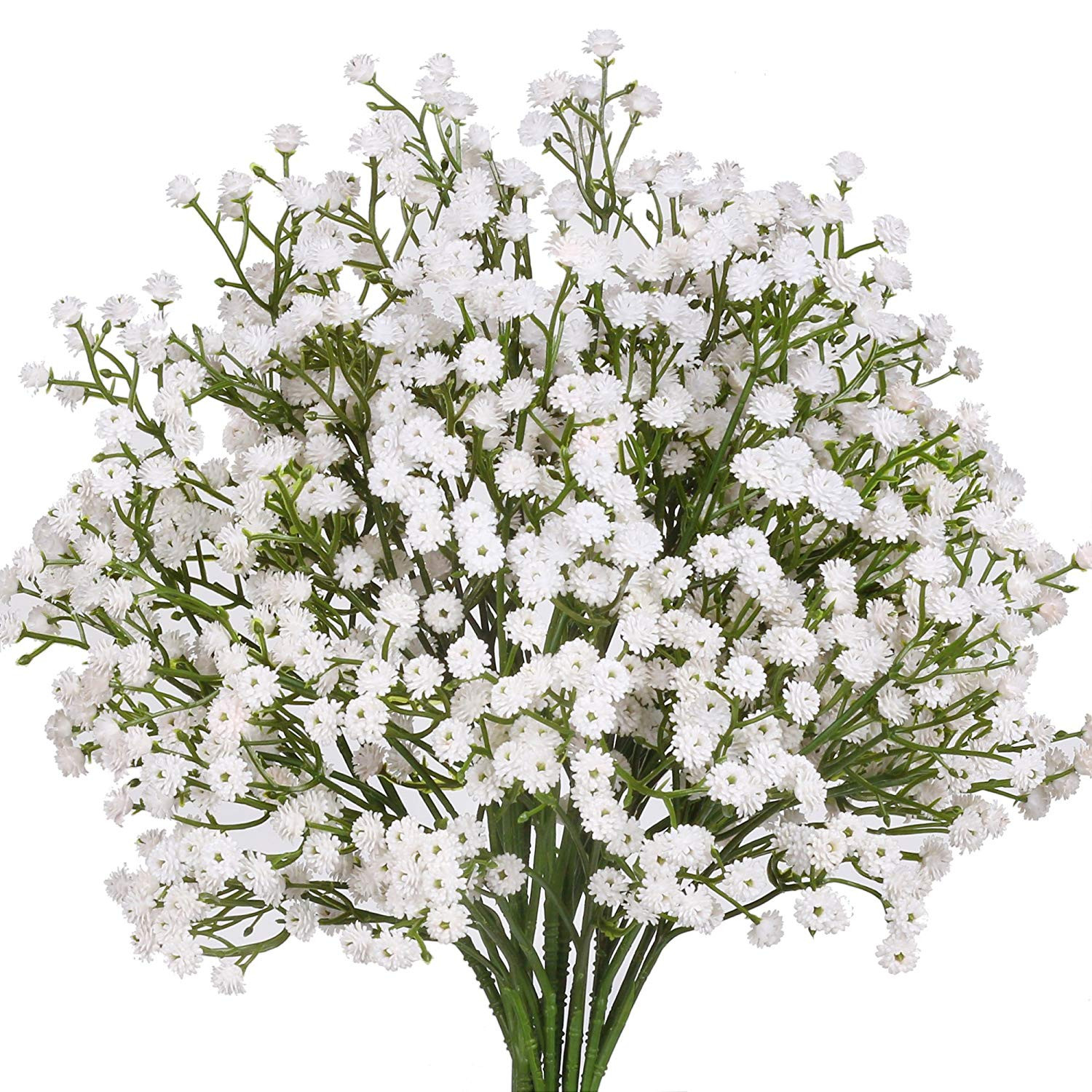 Amazon Senjie Artificial Fake Flowers Babys Breath Gypsophila Bouquets for Wedding Home DIY Decoraction 7 PCS White Home & Kitchen