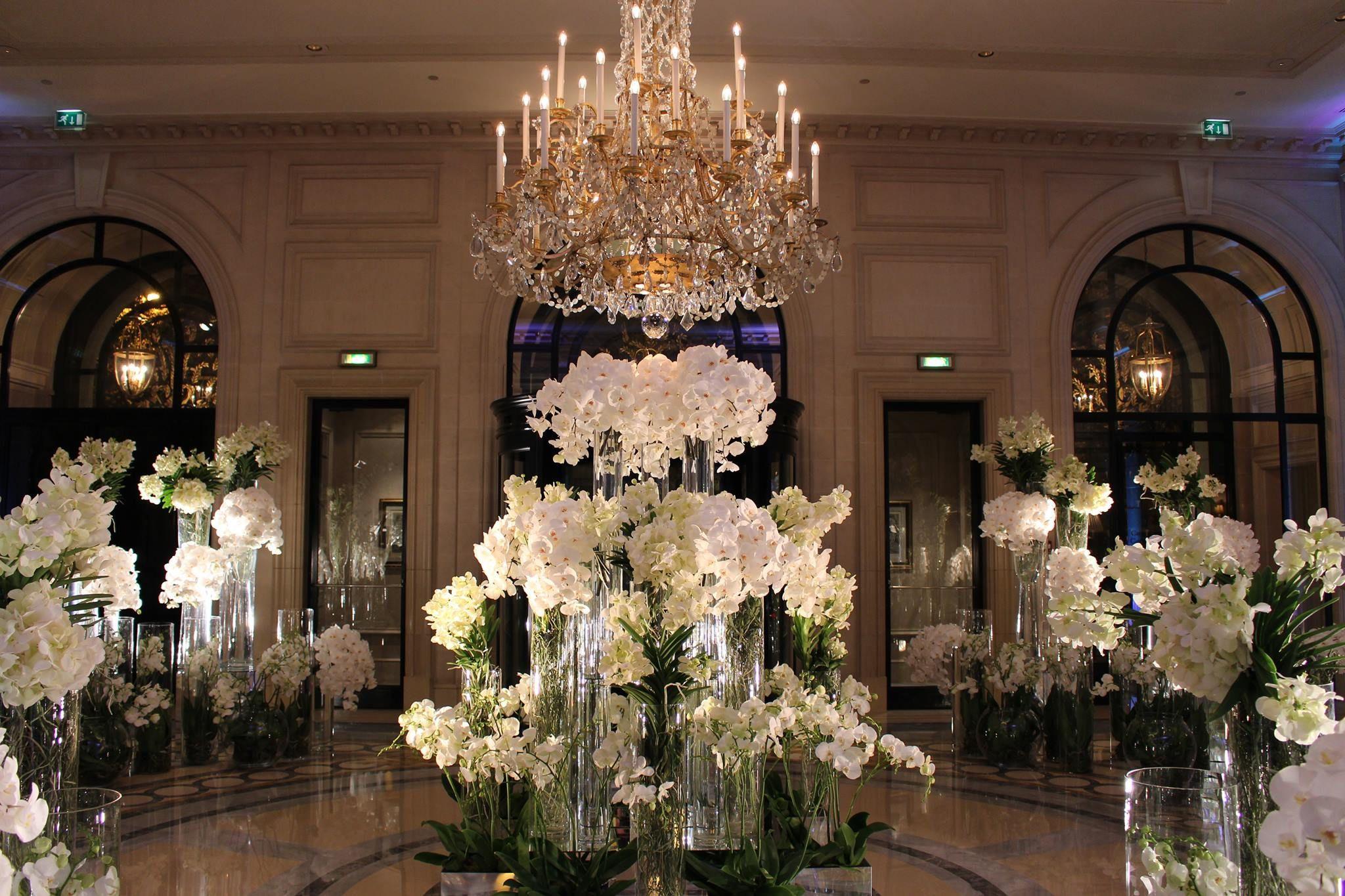 The flower arrangements at the George V
