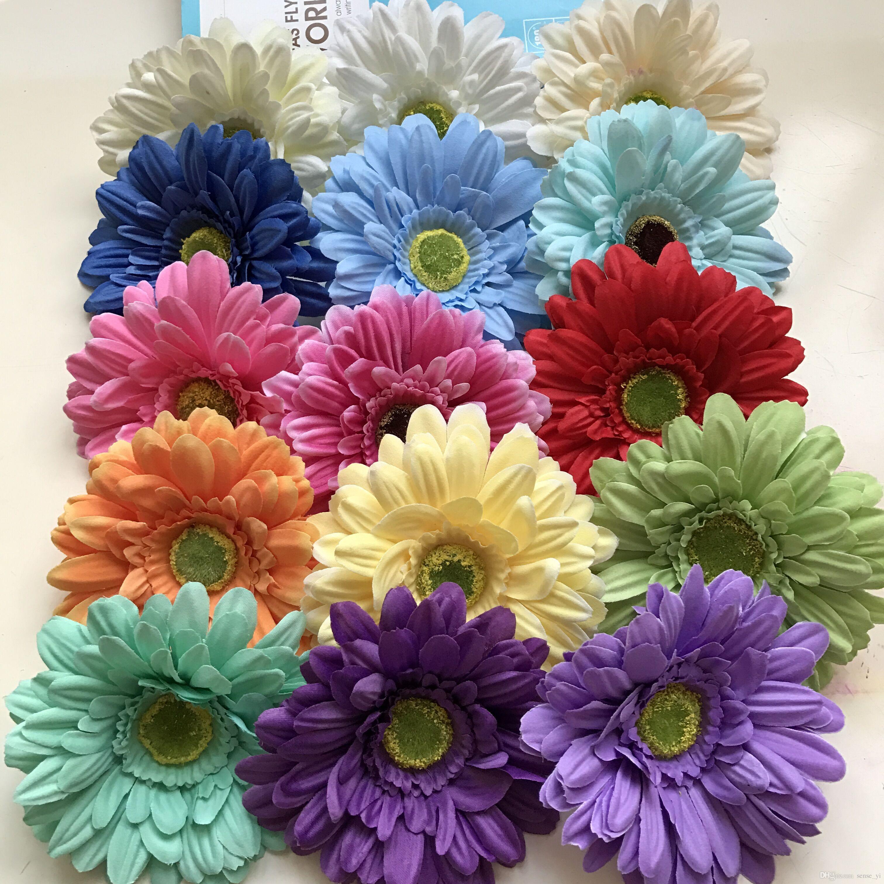 Silk Daisy Artificial Flowers For Wedding Home Decoration 13cm Chrysanthemum Mariage Flores Decorative Flowers Plants Silk Flowers line with $60 11 Piece