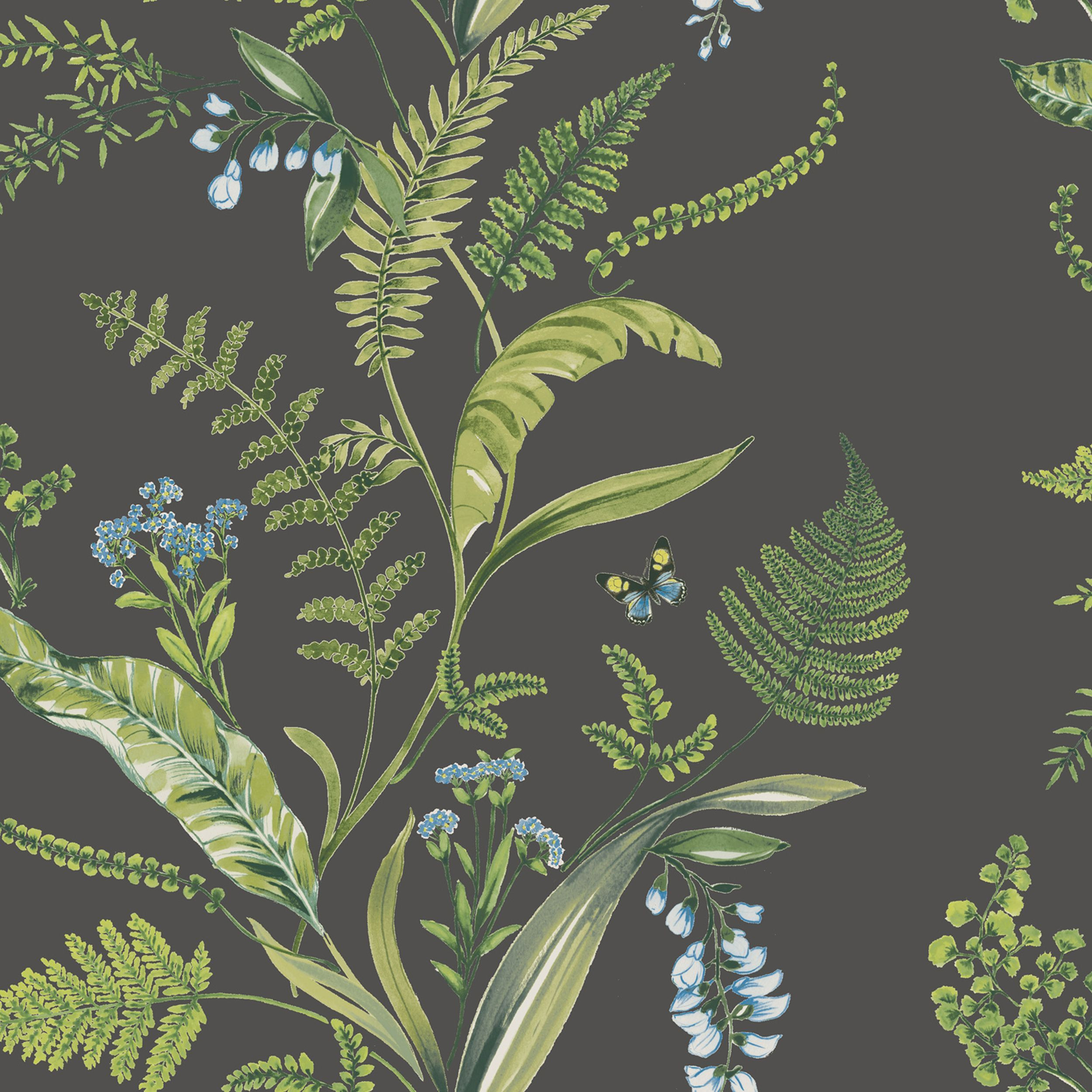 Fern & Flowers Green Floral Wallpaper Product code Price £12…