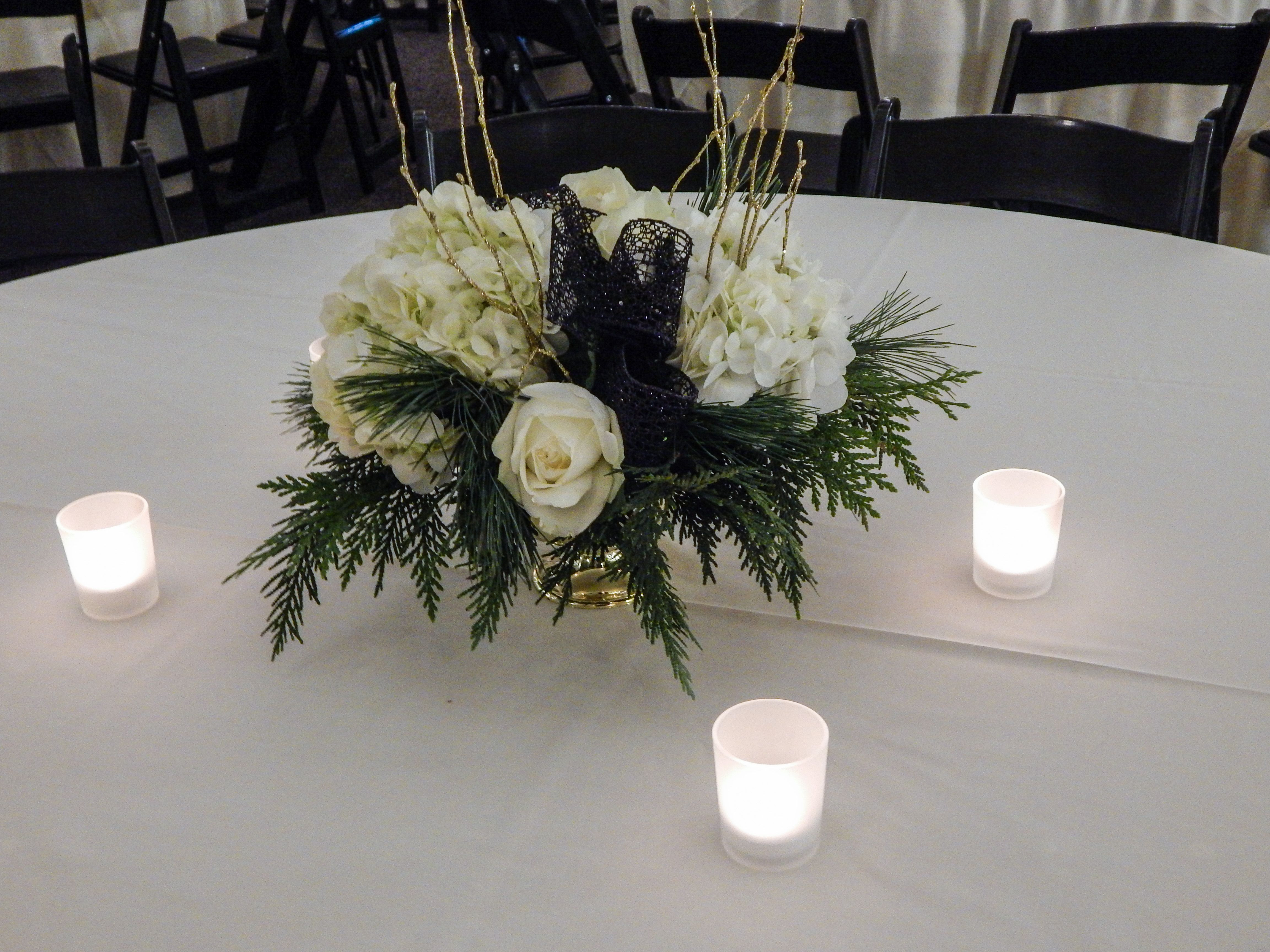Old Hollywood flower centerpieces