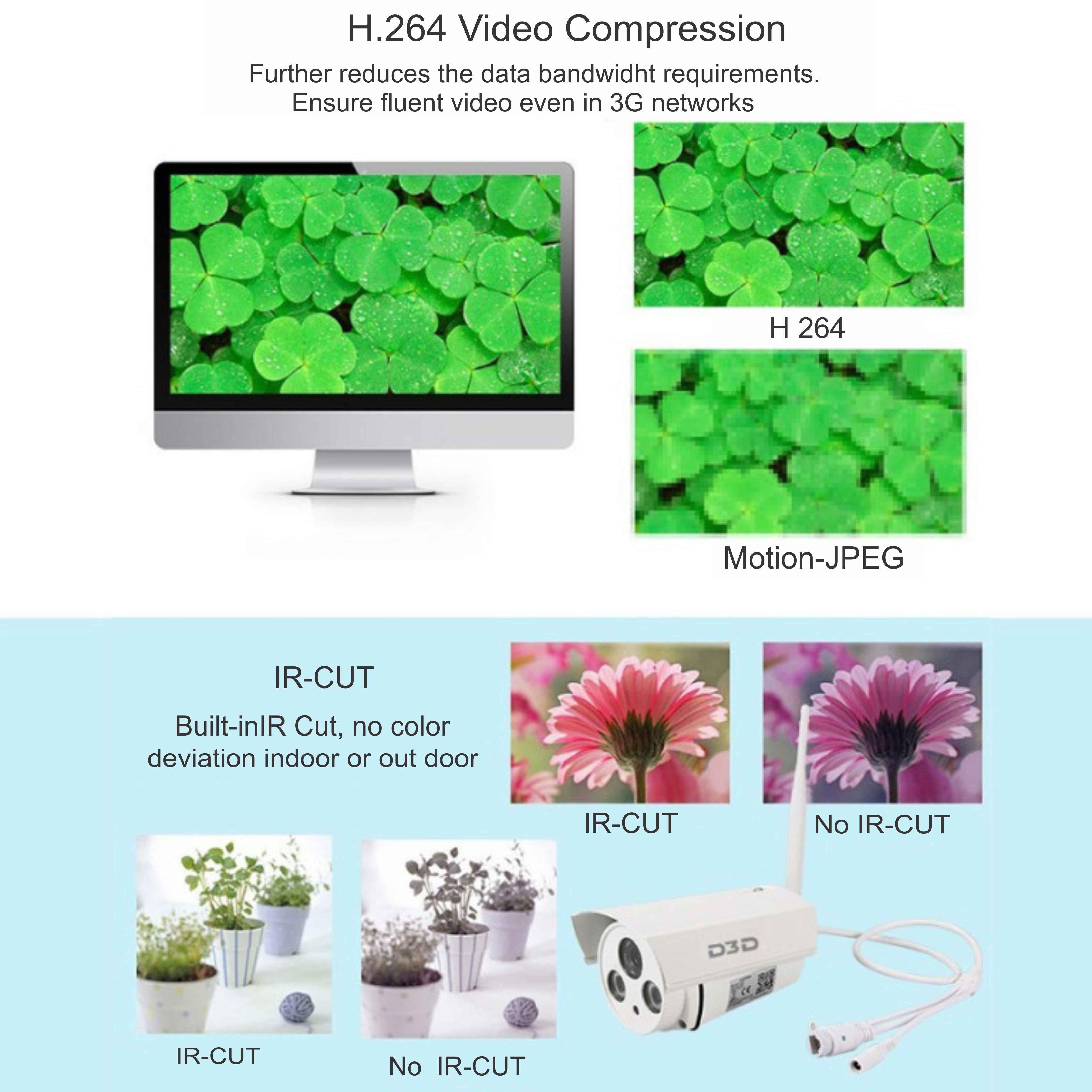 D3D Security D 8862 Wi Fi Bullet Full HD Waterproof IP Camera