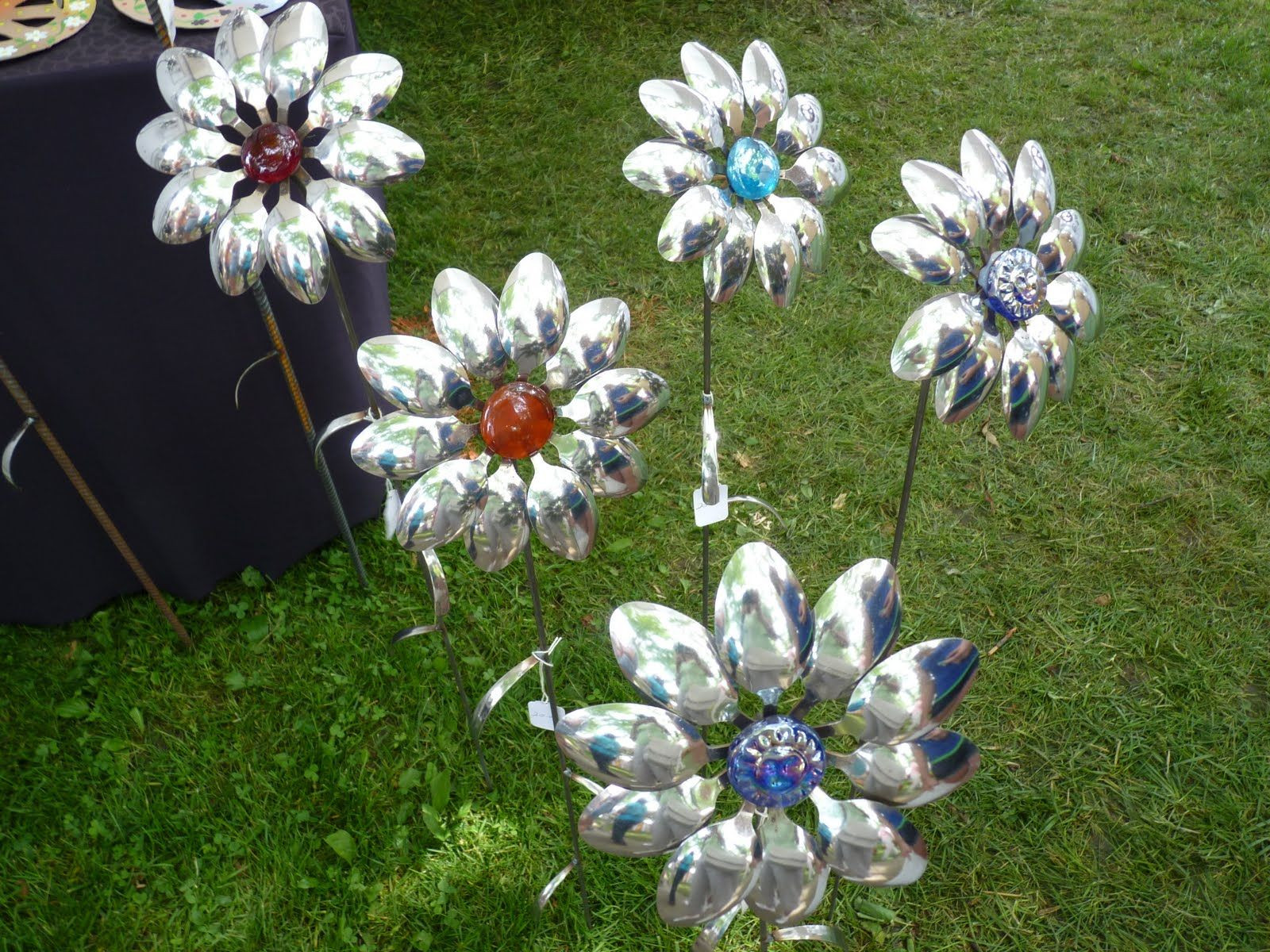 Flowers From Metal Spoons
