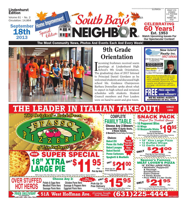 September 18 2013 Lindenhurst by South Bay s Neighbor Newspapers issuu