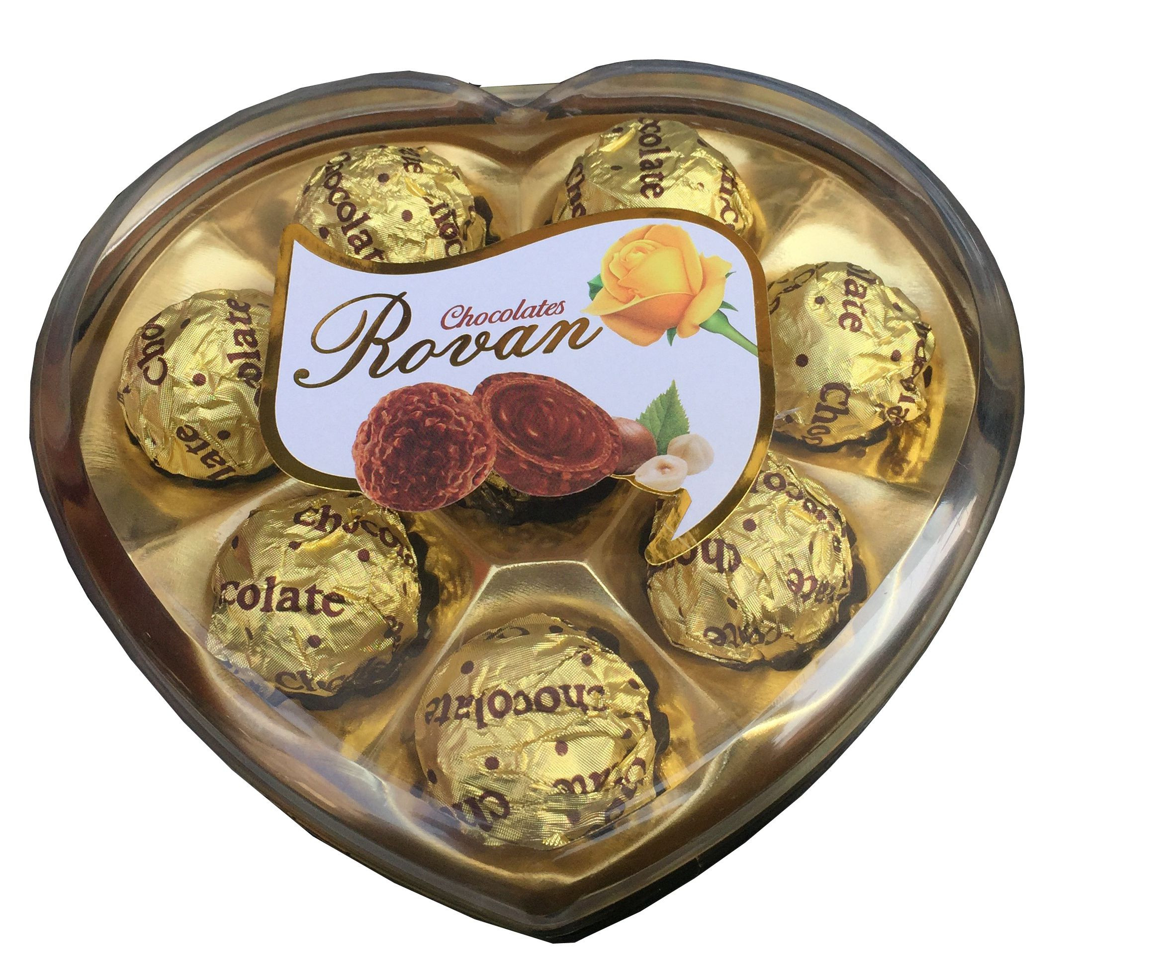 Rovan Assorted Chocolate Covered Nuts 100 gm Pack of 8