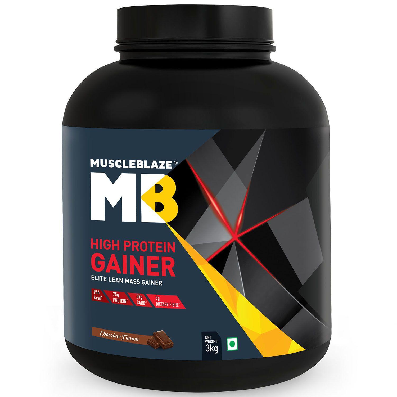 MuscleBlaze High Protein Elite Lean Mass gainer 3 kg Mass Gainer Powder