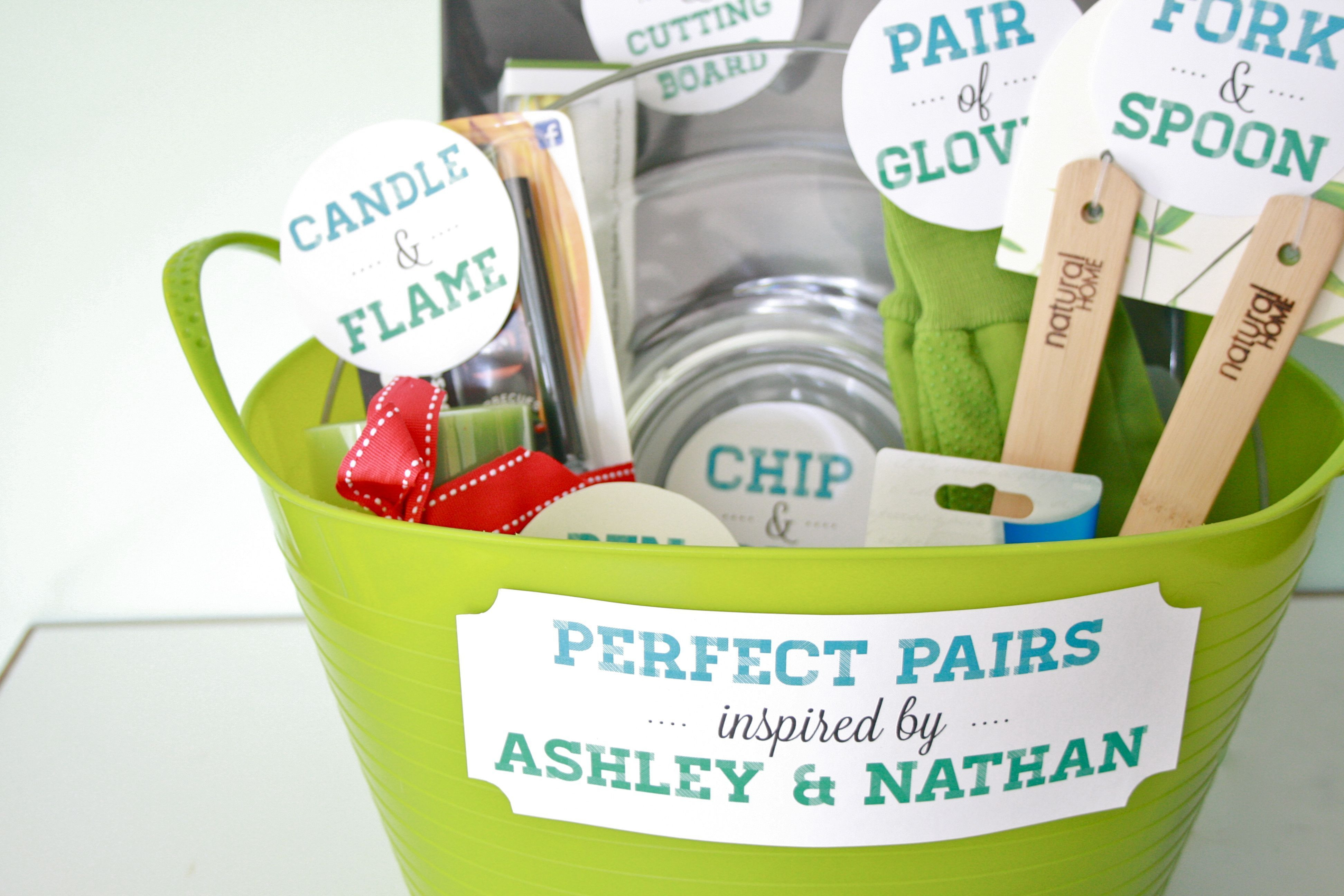 """Perfect Pairs"" A bridal shower t basket Dream Green DIY """