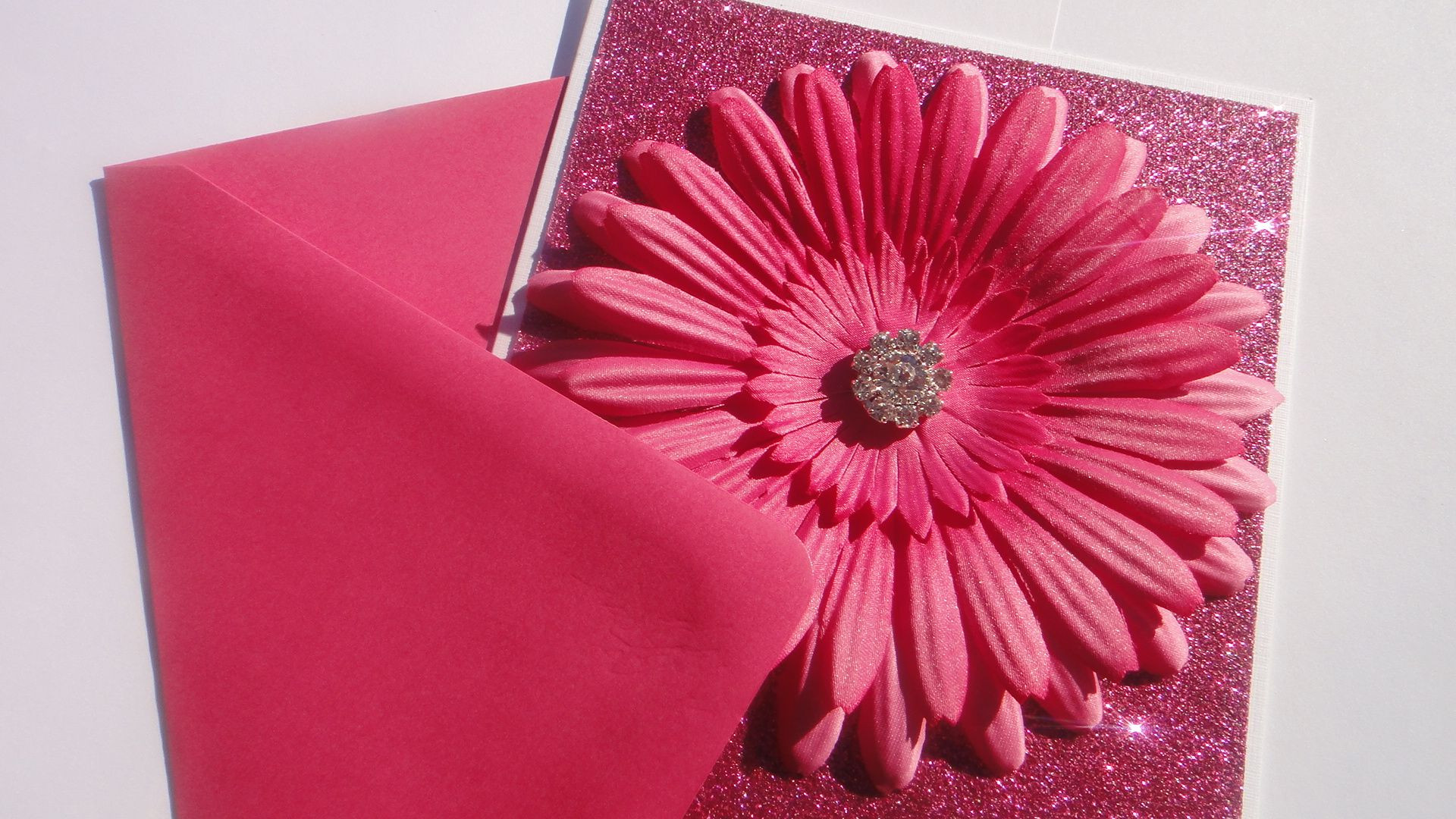 This is part of my Sparkle Flower Bloom Collection of greeting Cards