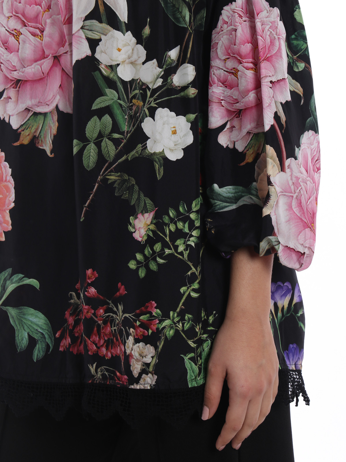 Collections Cheap Price Shalky flower print silk blouse Clearance New Arrival 28dnjITMn