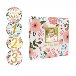 International Floral Delivery Elegant Amazon Pearhead Memory Book with Included Baby Belly Stickers