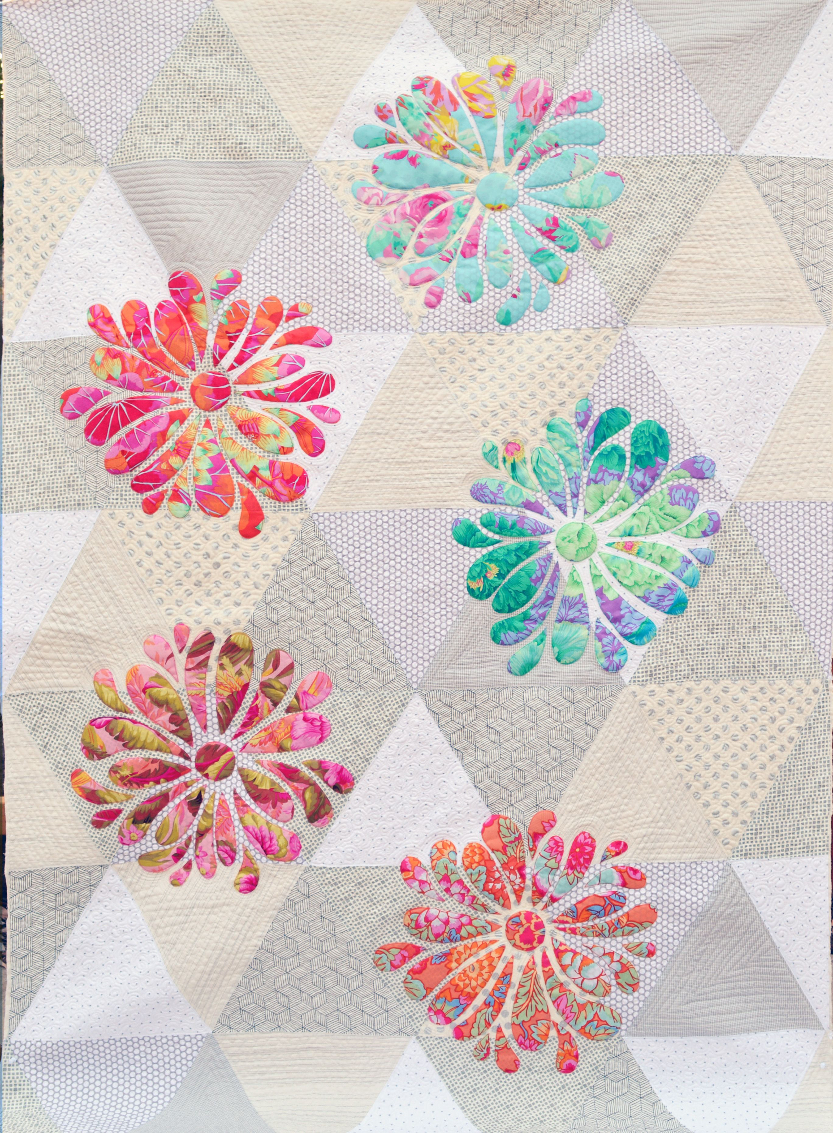 My Flower Bloom applique quilt pattern at Passionately Sewn Australia