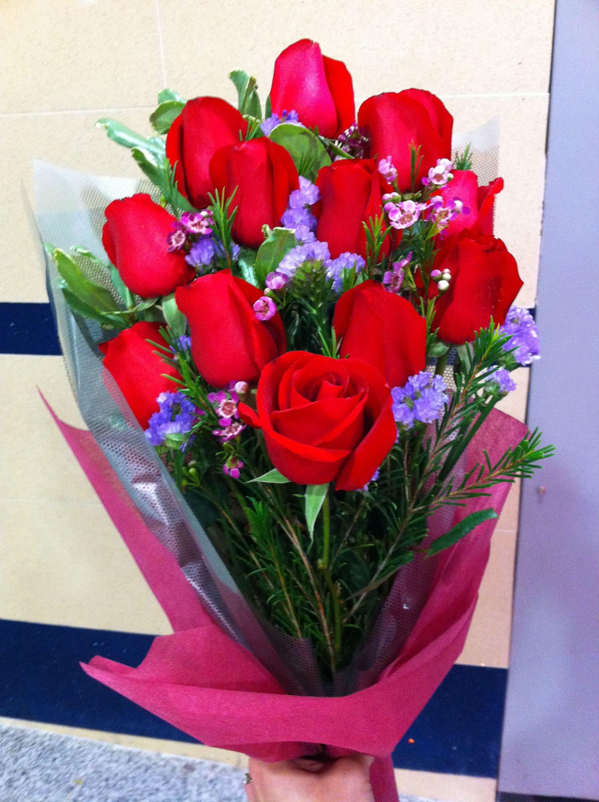 Valentine flowers I gave to my wife