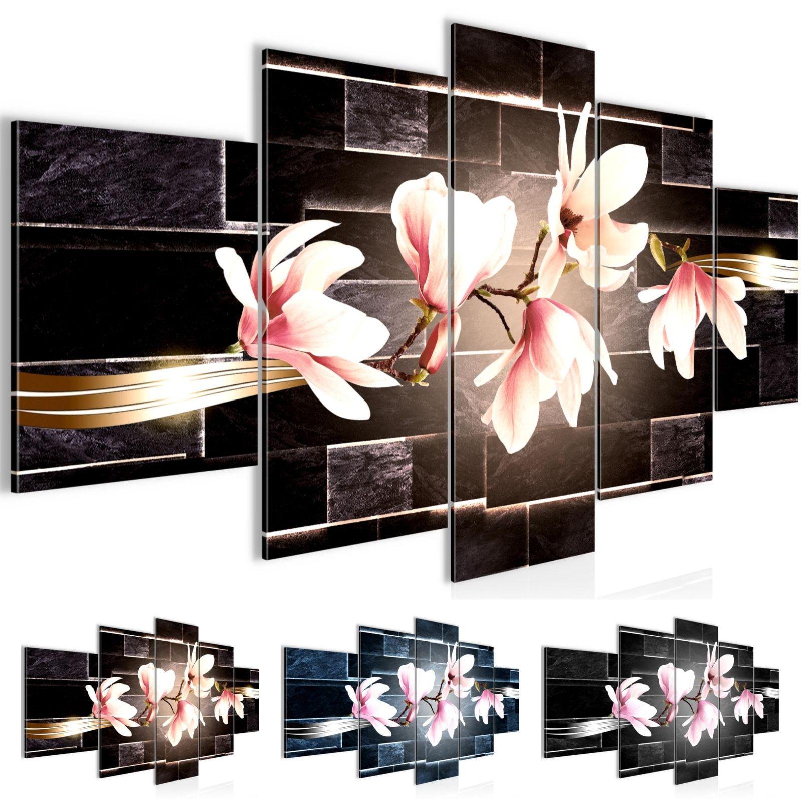 Wandbilder Blumen Magnolien Vlies Leinwand Bild Xxl Bilder Kunstdruck p