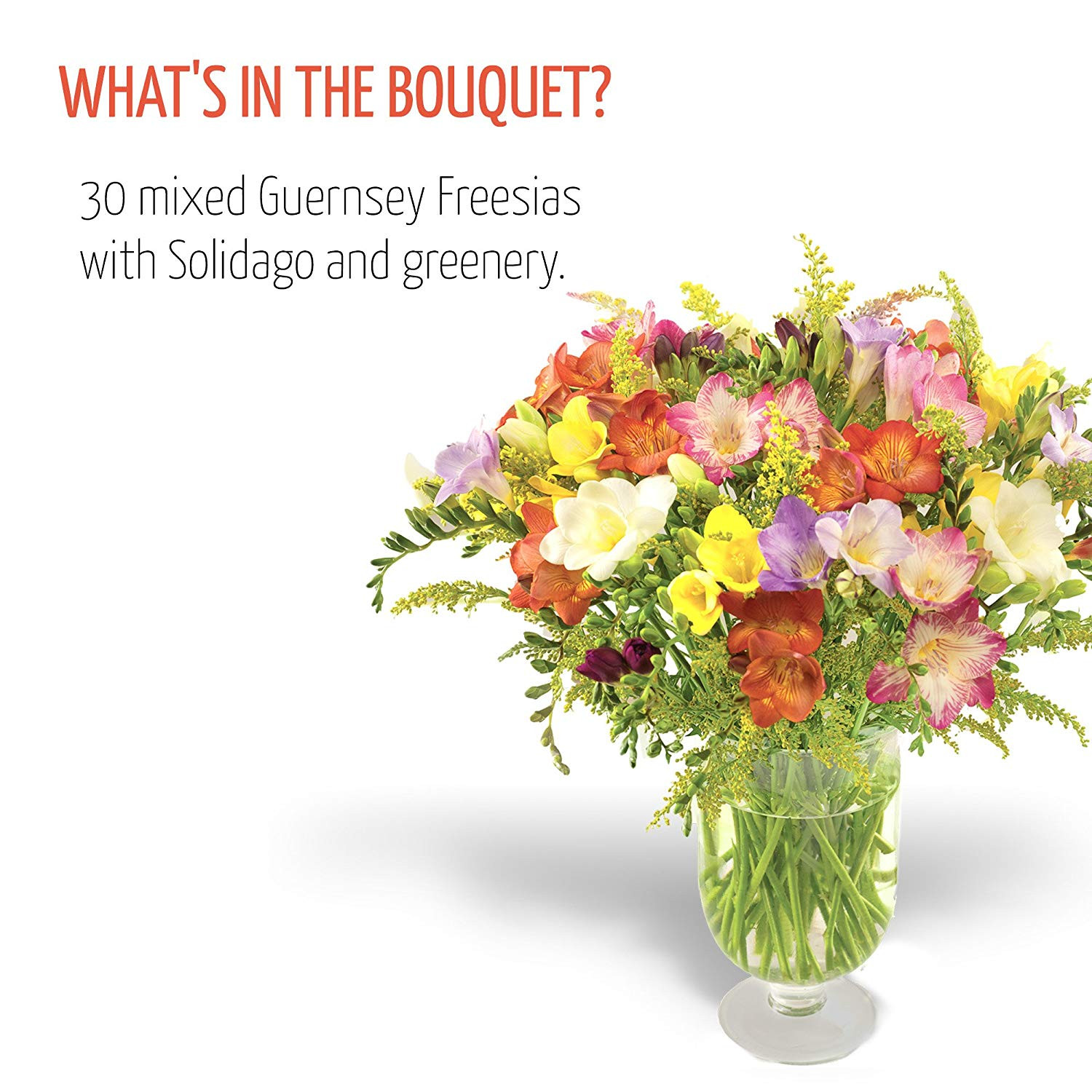 Fresh Flowers Delivered Free UK Delivery 30 Mixed Freesias Bouquet with Free Chocolates Flower Food and Bonus Ebook Guide Perfect for birthdays