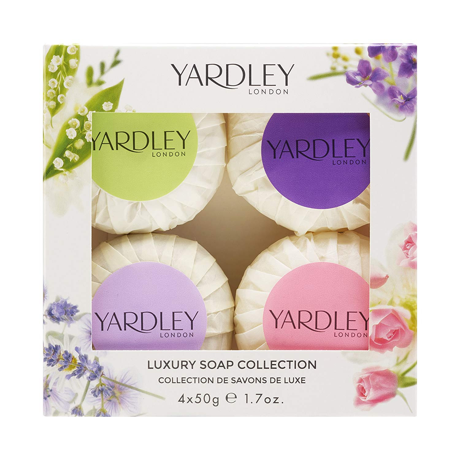 Yardley London Mixed Guest Soap Collection 4 x 50 g Amazon Beauty