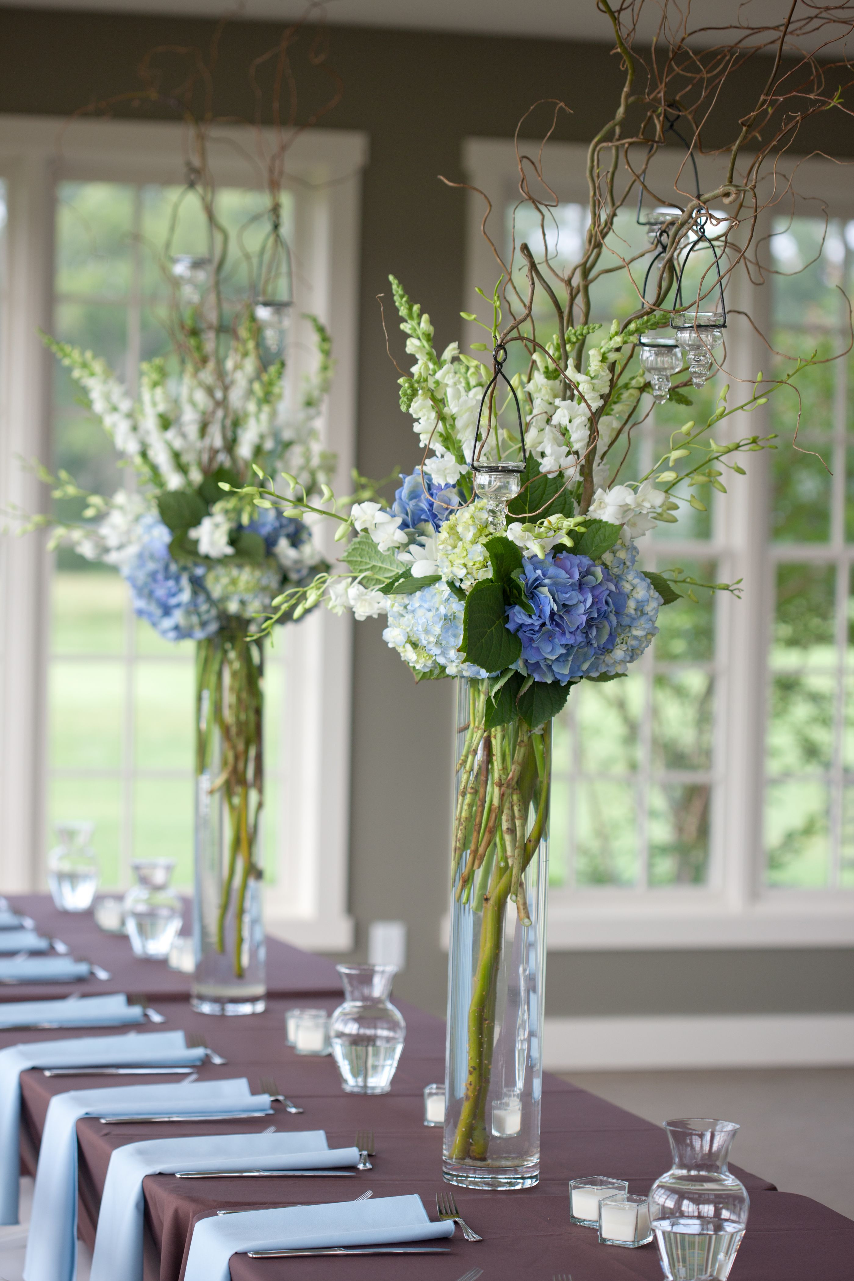 Next Day Delivery Flowers London New Blue and White Reception Wedding Flowers Wedding Decor Wedding