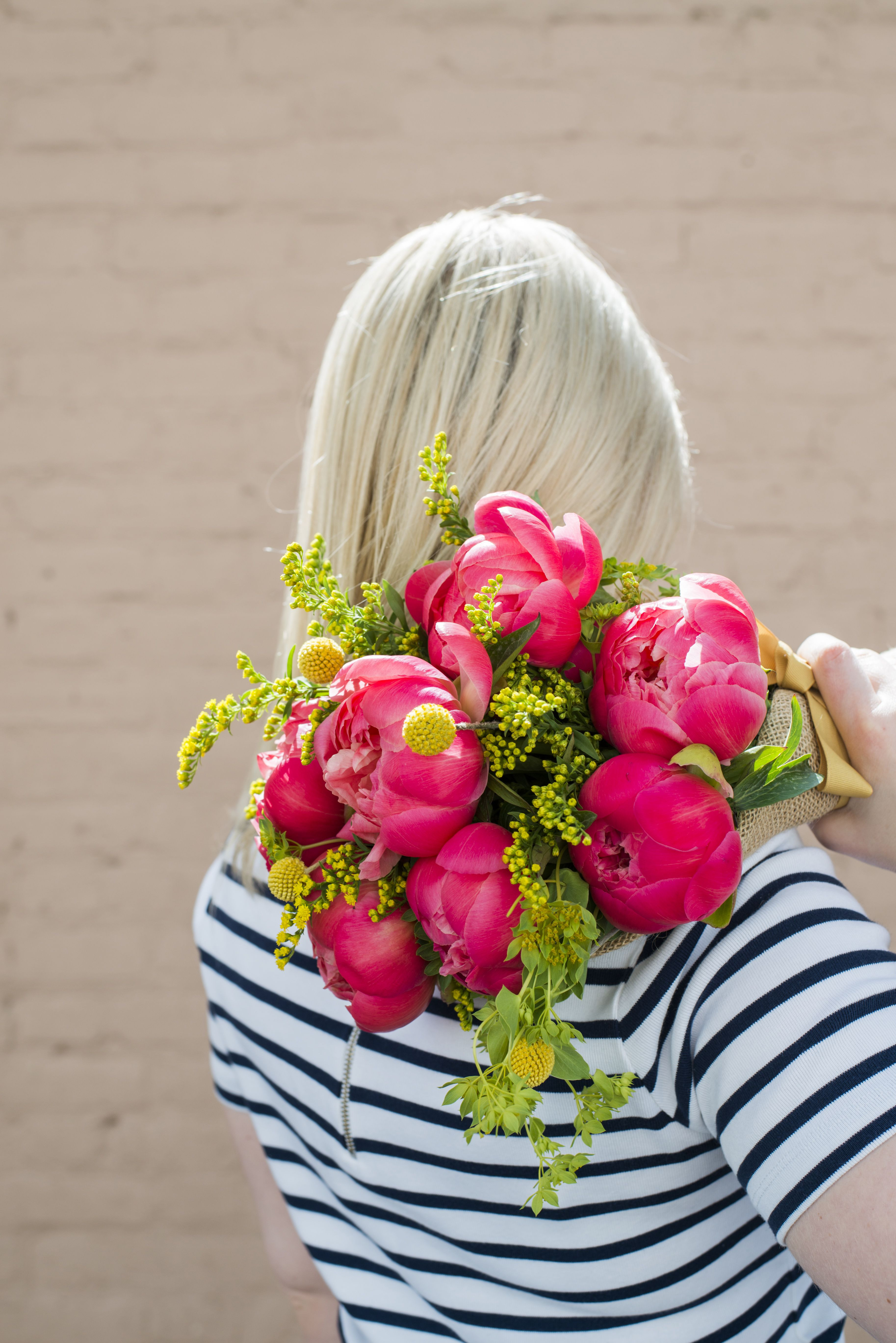 Next Day Flowers Free Delivery Fresh We Ve Paired Up Bright Coral Peonies with Bold solidago and On Trend