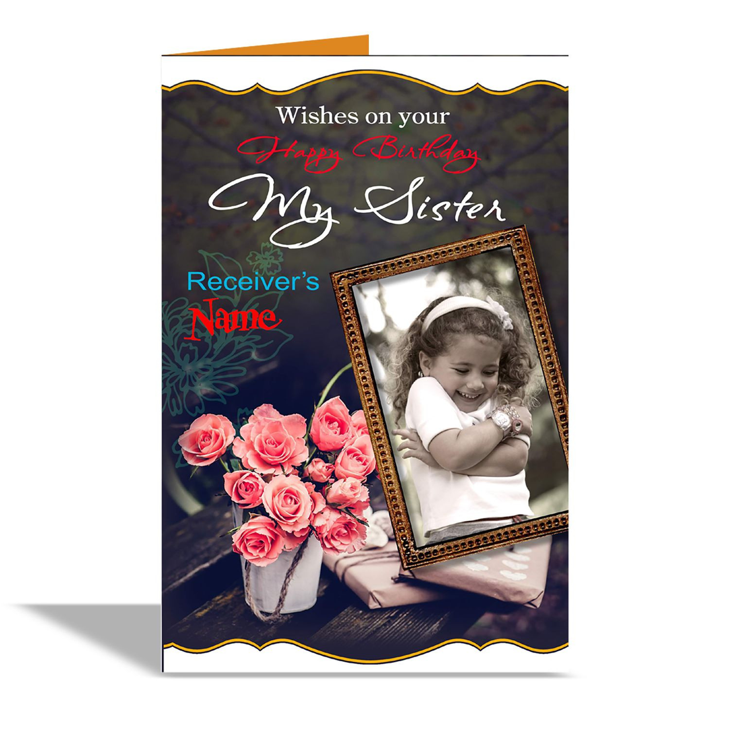 always t wishes on your birthday my sister Greeting Card