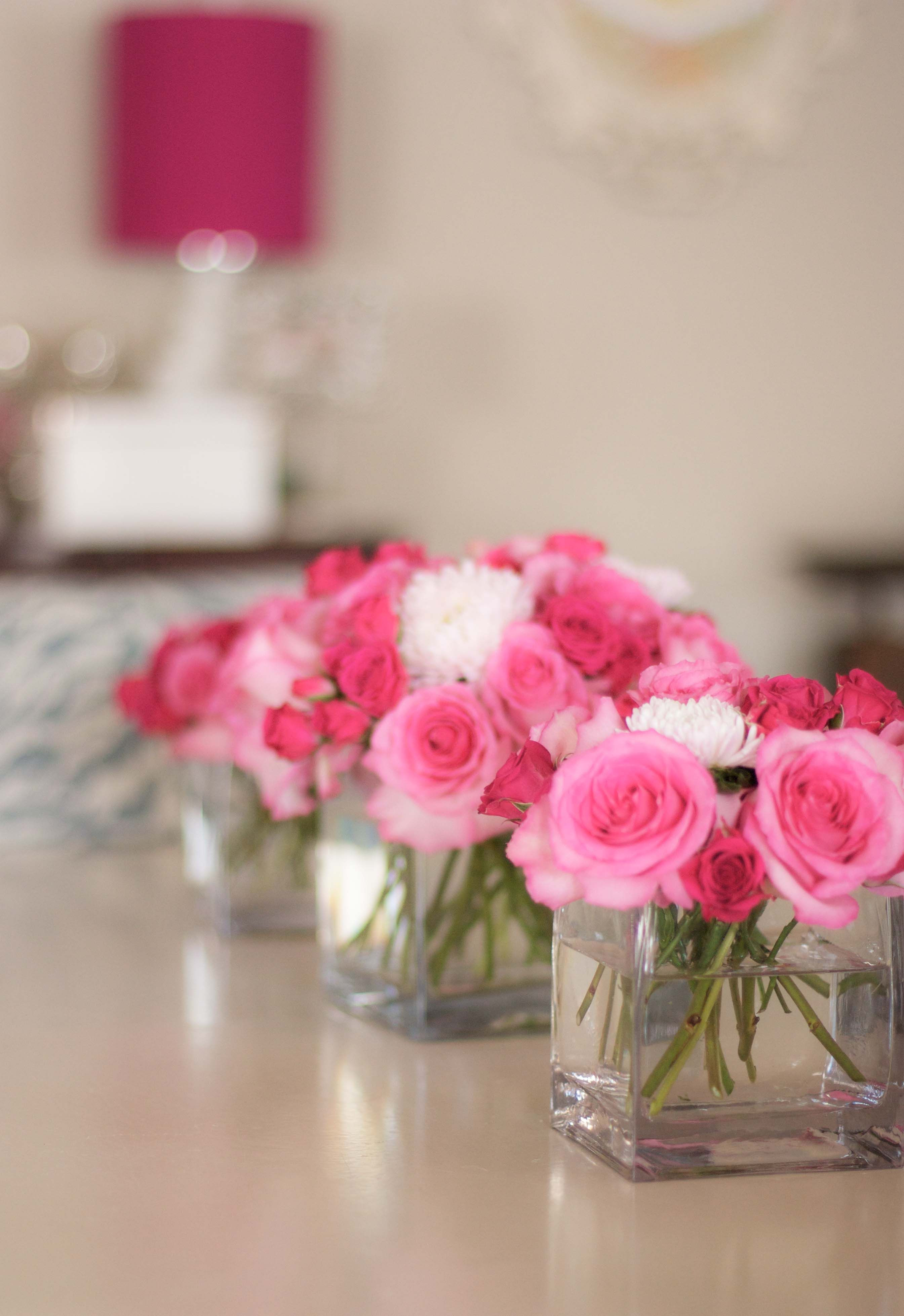 Simple arrangement ideas for the tables if you want to go with flowers