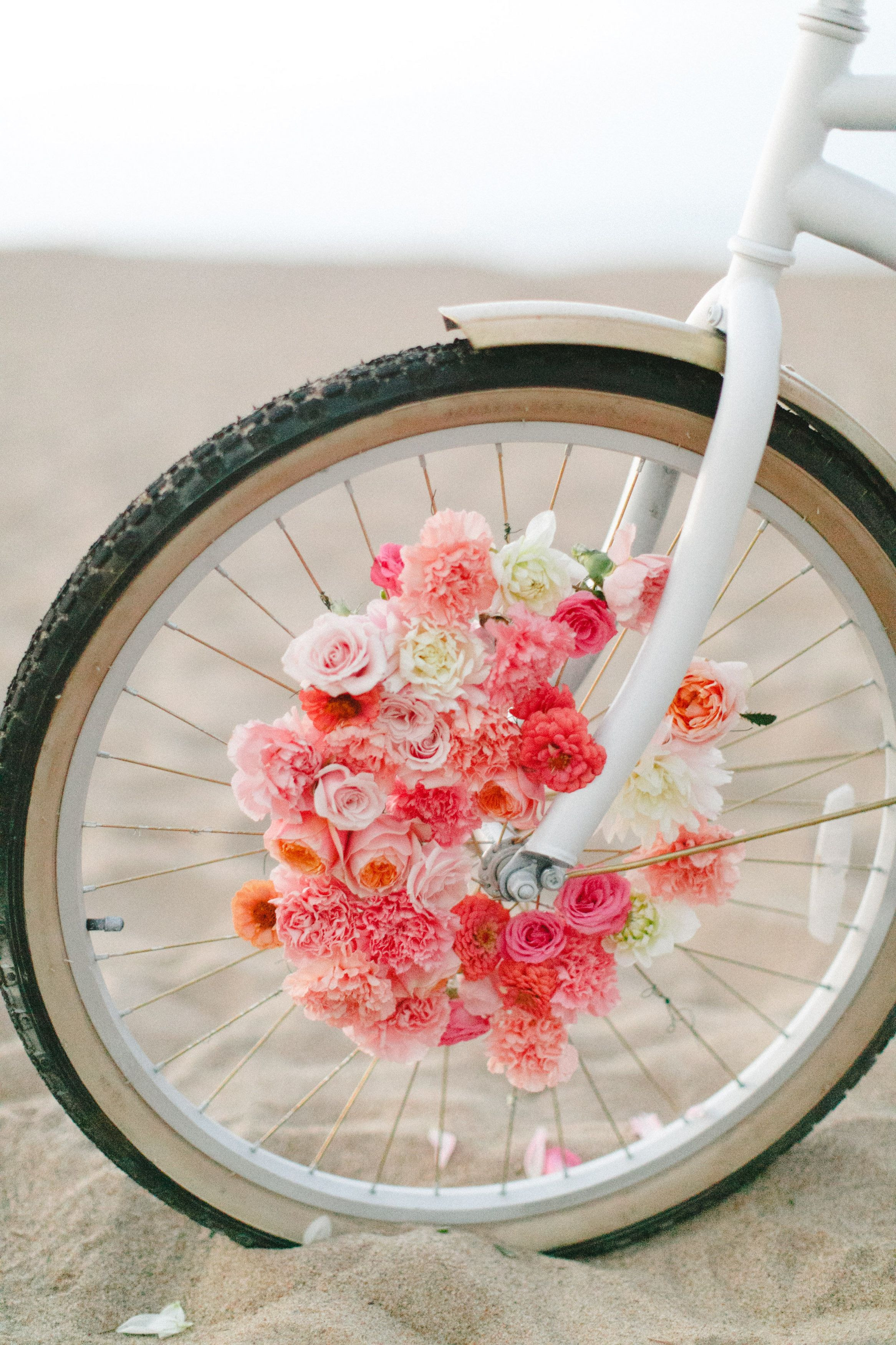 Order Flowers for tomorrow Fresh Diy Floral Beach Cruiser Surrounded with Flowers Iv