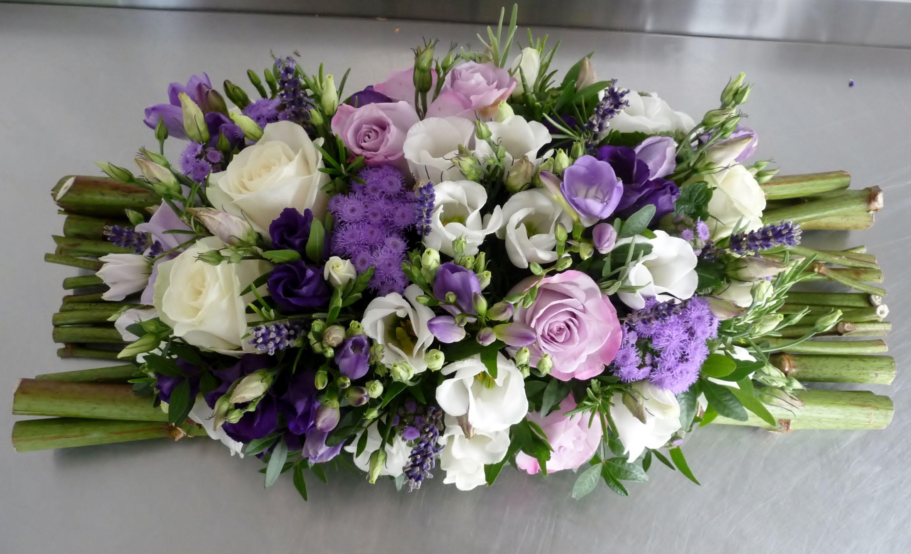 Centre de table violet lavande et blanc