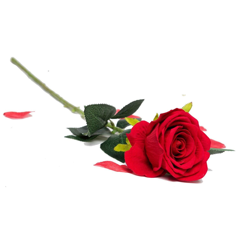"Order Flowers Online Usa Beautiful Amazon Artificial Silk Roses Red Velvet 30"" Long Stemmed 1"