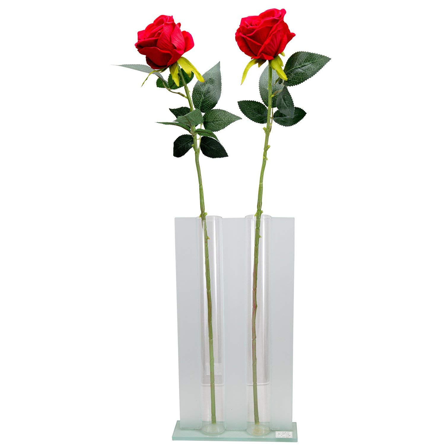 "Amazon Artificial Silk Roses Red Velvet 30"" Long Stemmed 1 Dozen Fake Flowers for Bouquets Weddings Valentines By Royal Imports Home & Kitchen"