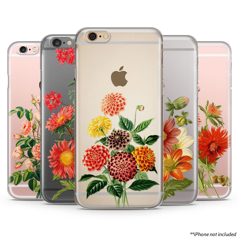 Flowers iPhone Case iPhone 6 plus case Transparent iPhone Case iphone 6s case