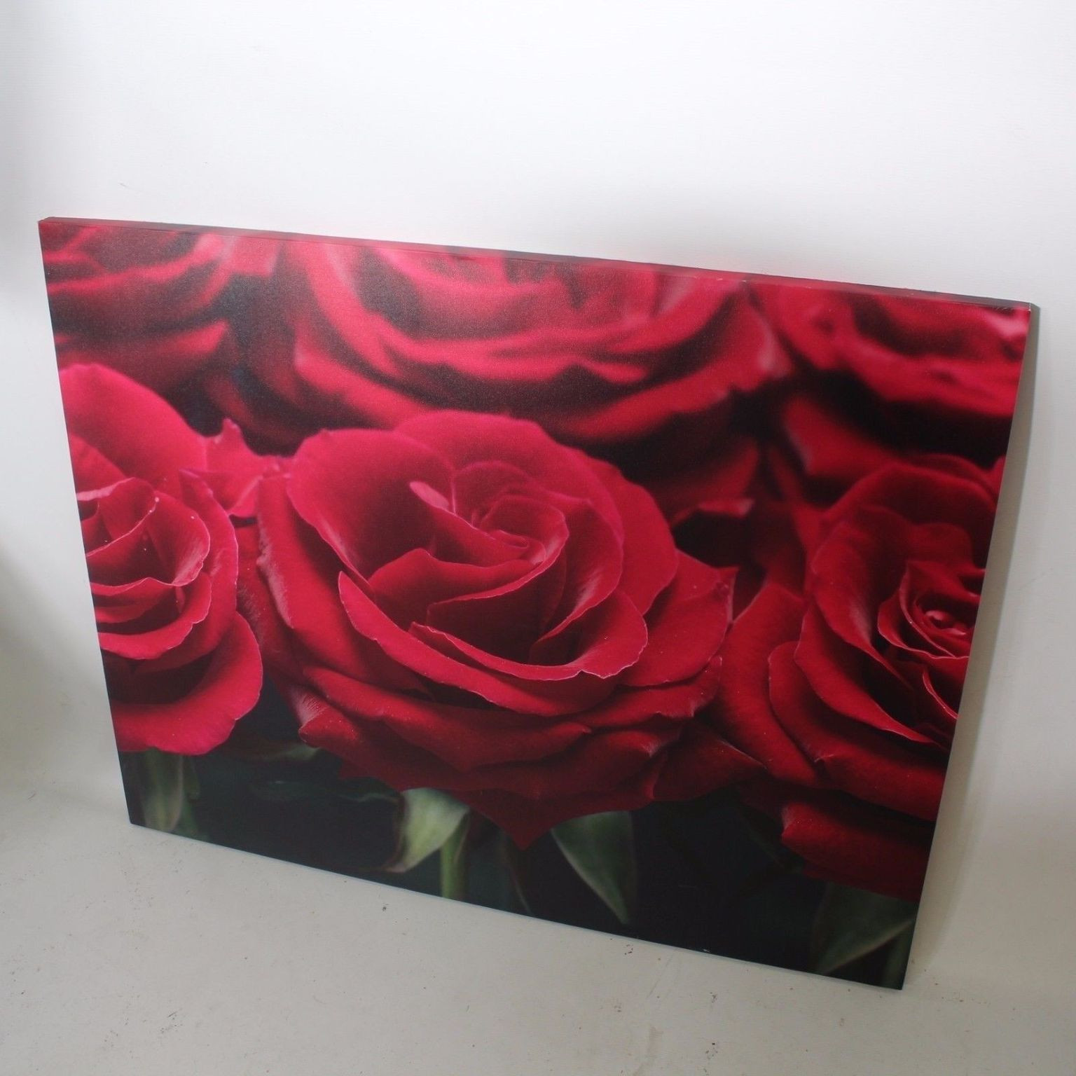 Stretched Canvas Print Red Roses Floral 51c1ca21