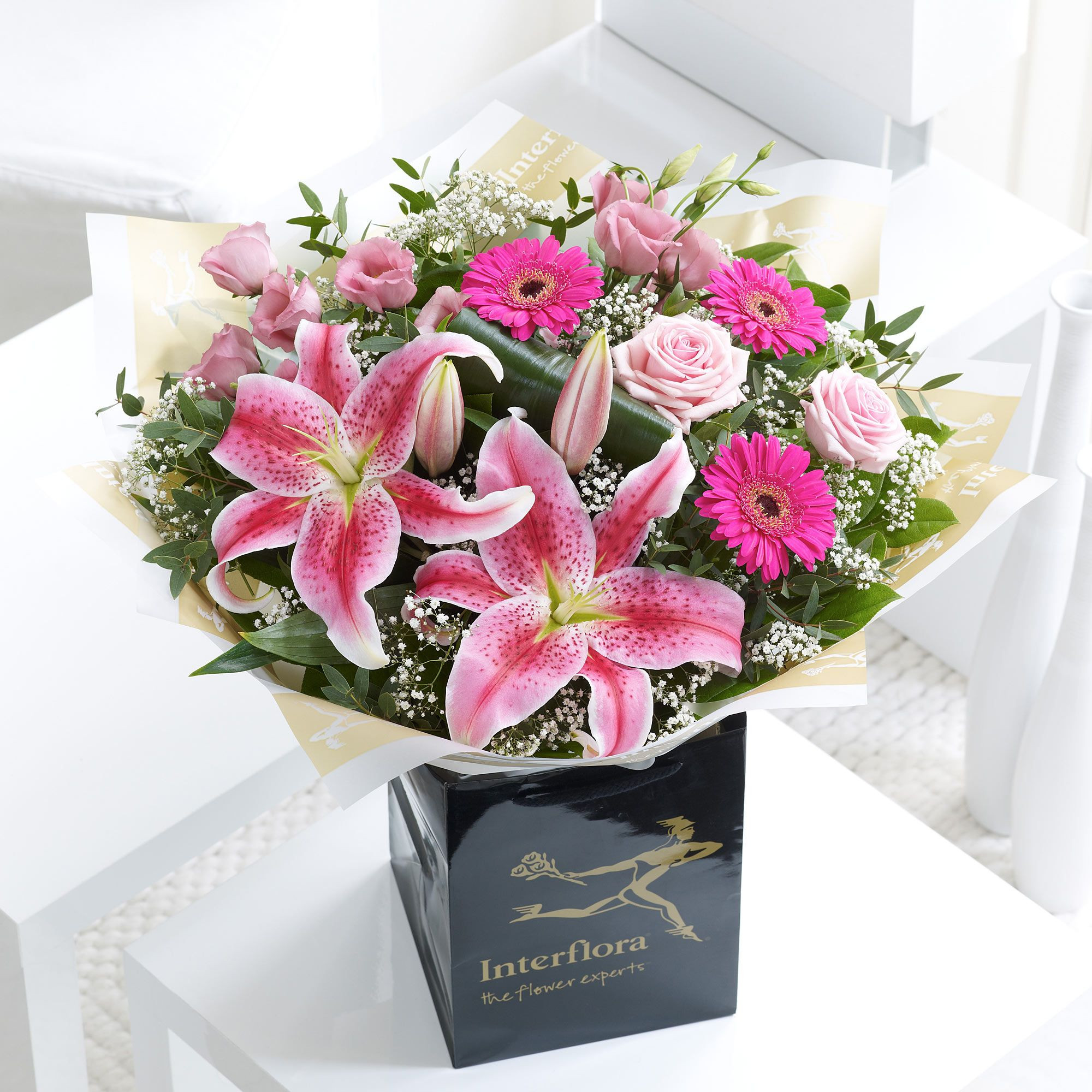 Same Day Flower Delivery Dublin Lovely the Pink oriental Lilies In This Arrangement are Very Eye Catching