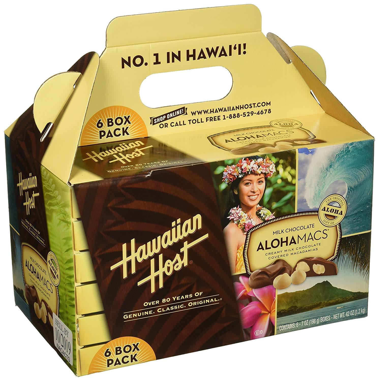 Amazon Hawaiian Host Alohamacs Milk Chocolate The Original Chocolate Covered Macadamia Nut 42 Ounce Snack Macadamia Nuts Grocery & Gourmet Food