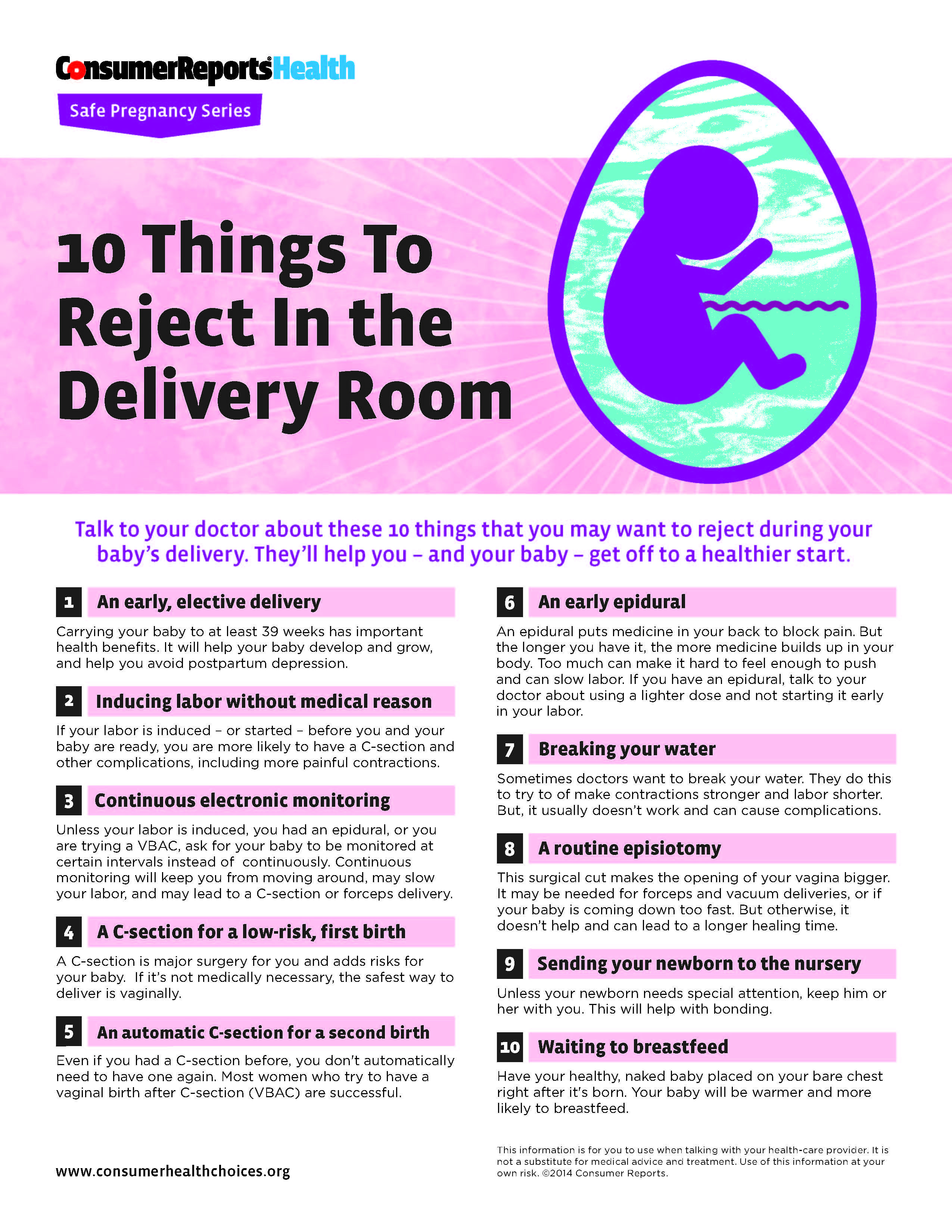 10 Things To Reject In the Delivery Room
