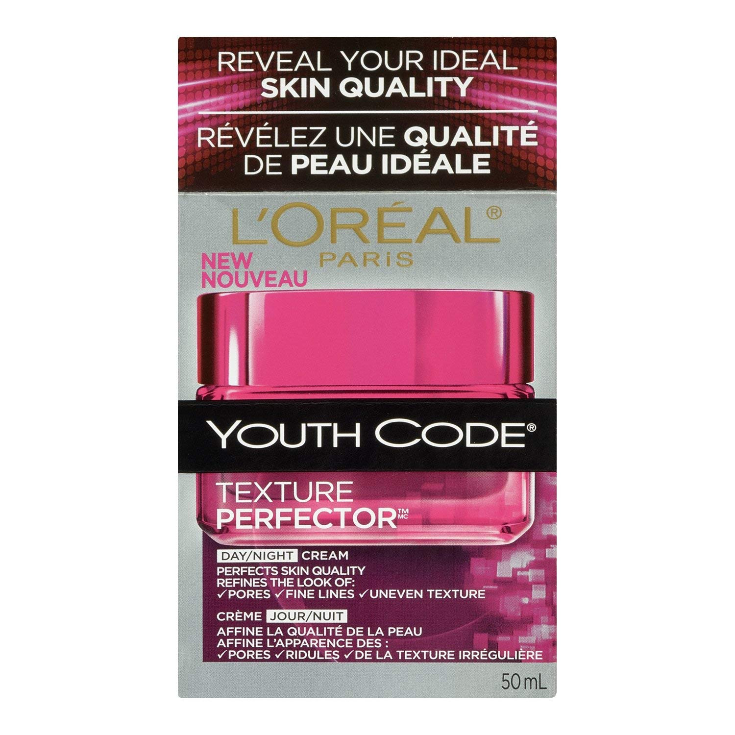 Amazon L Oreal Paris Youth Code Texture Perfector Day Night Cream 1 7 Fluid Ounce Facial Moisturizers Beauty