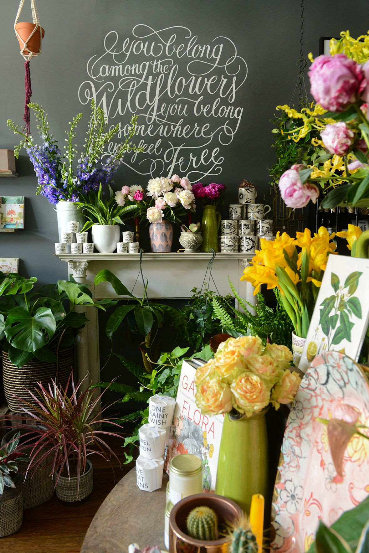 The Farmer s Daughter Flower Shop in Pittsburgh PA via Design Sponge Paint Color Sherwin Williams custom