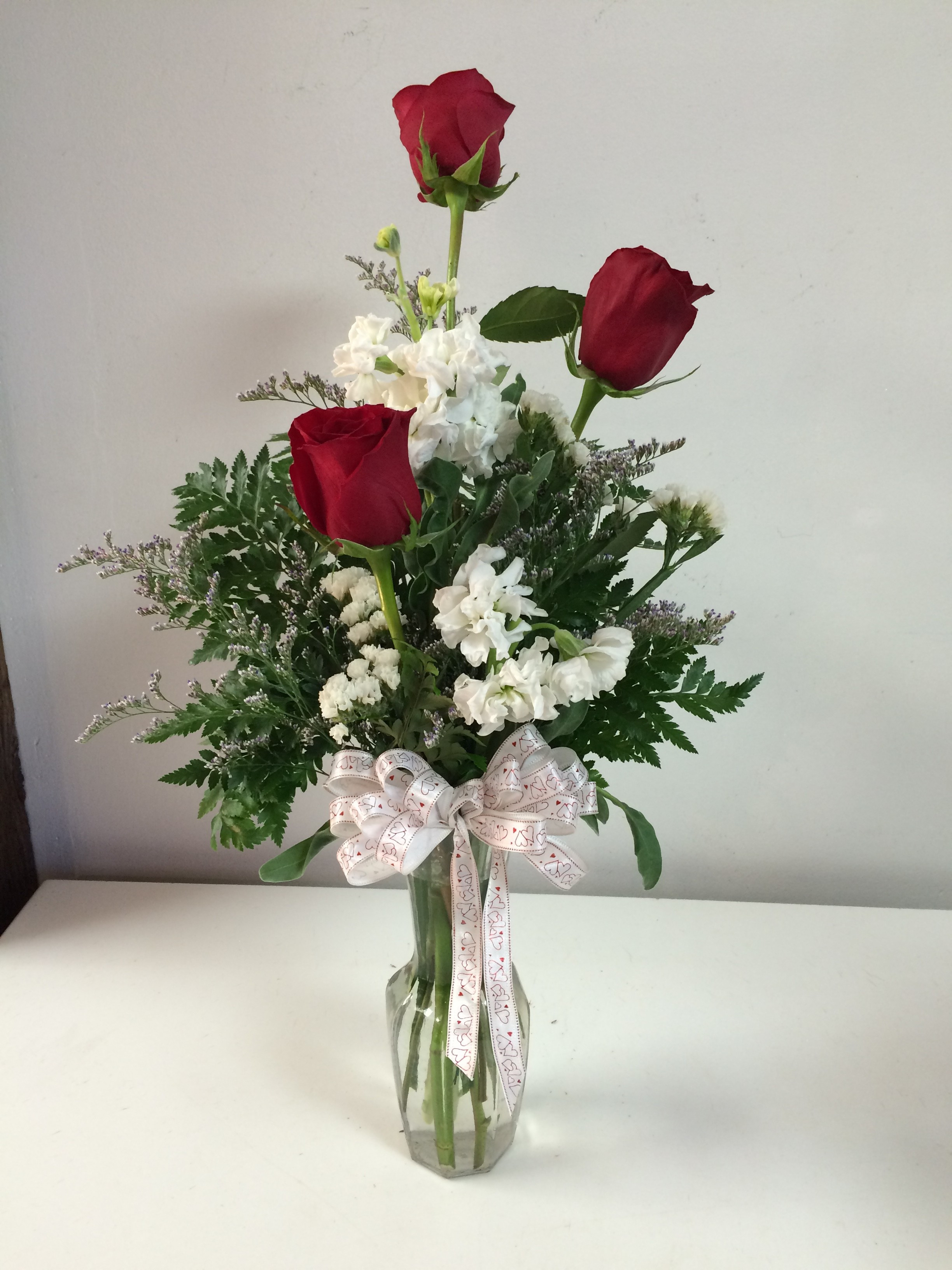 Same Day Flowers Beautiful Triple Roses In Elk City Ok