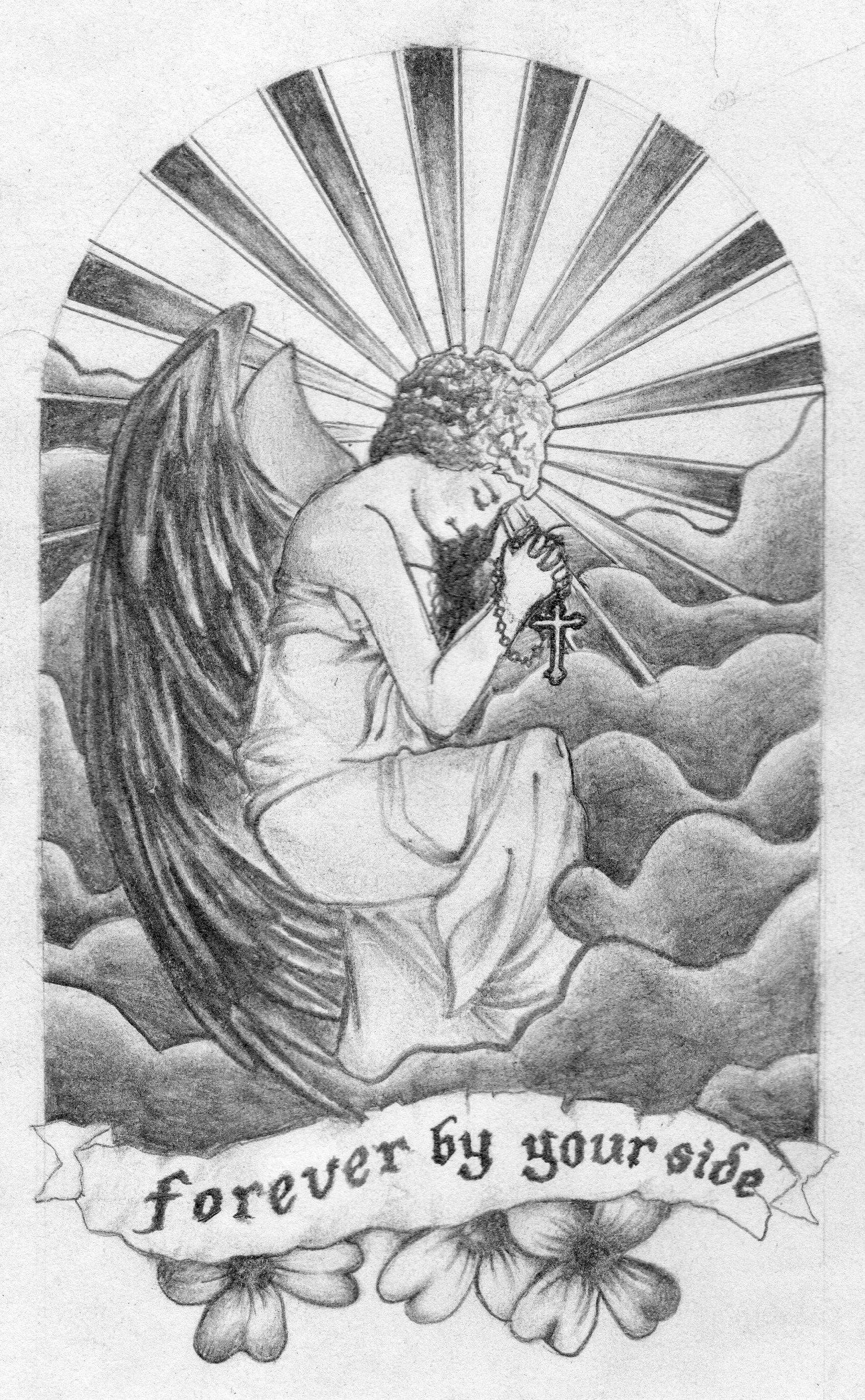Guardian Angel Tattoo Tattoo Pencil Angel Art Drawing GuardianAngel