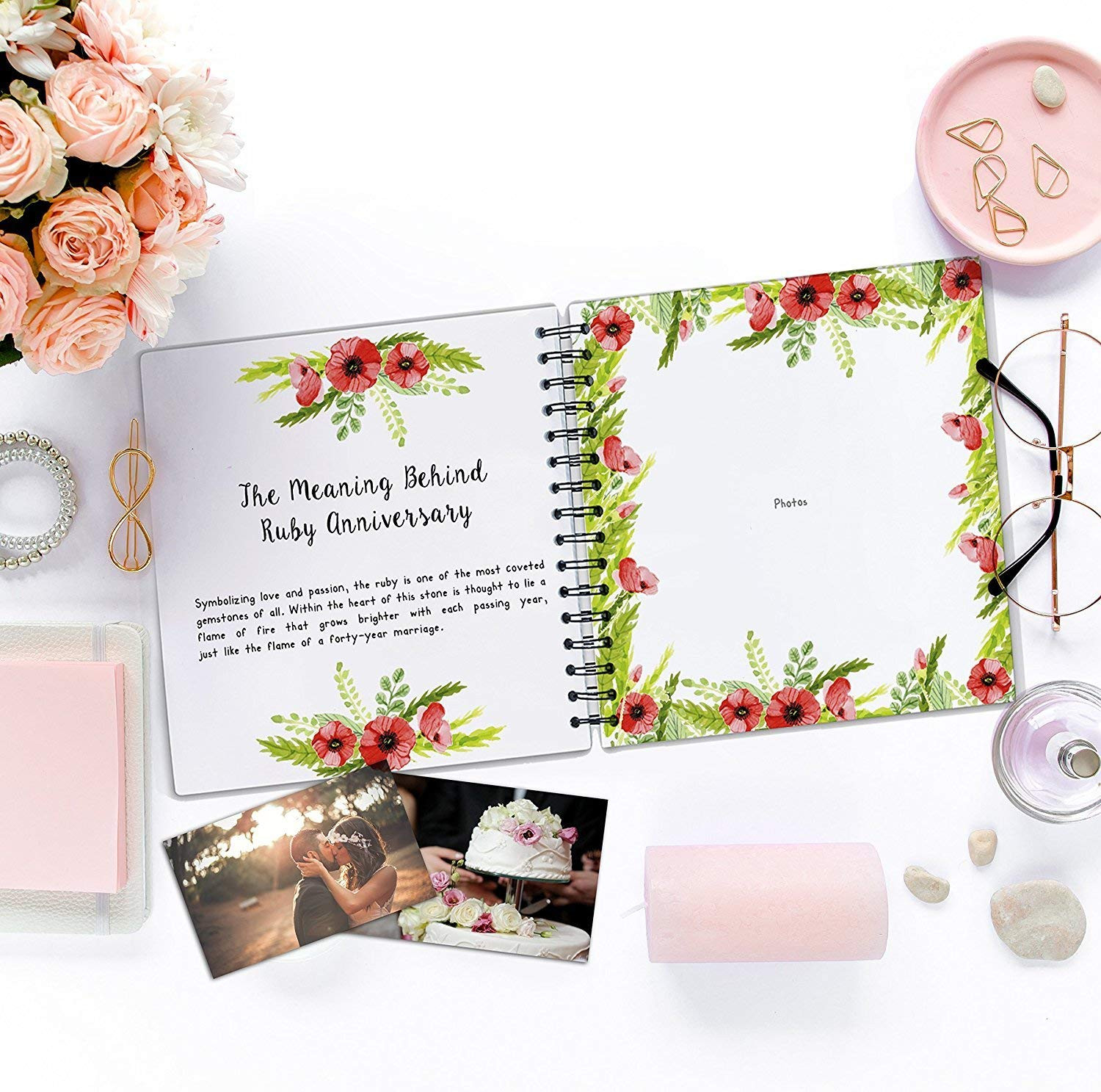Amazon Fiftieth Year Anniversary ScrapBook with Matching Card 5 Second Memory Journal Unique 50 Years Wedding Gift for Husband or Wife Perfect
