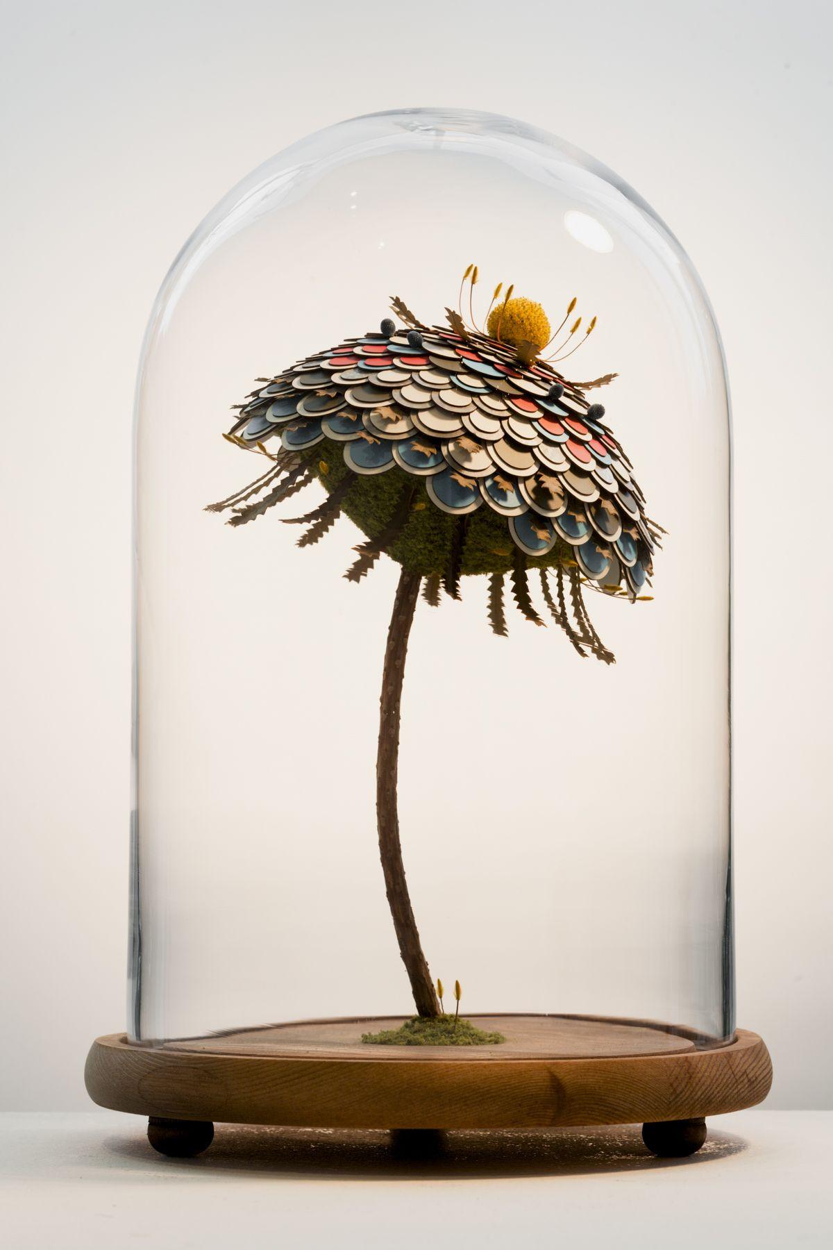 Mixed media art artwork craft design handmade nature paper sculpture surreal surrealism Noreen Loh Hui Miun