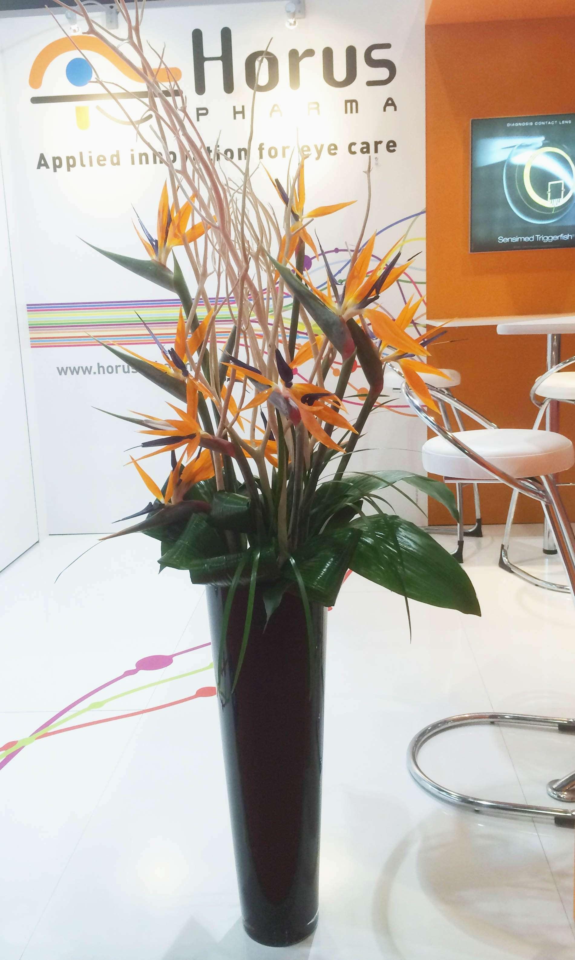 Dining Table Flower Arrangements Beautiful 2 Od orange Bird Paradise Twig Foliage In Black Vase Concept