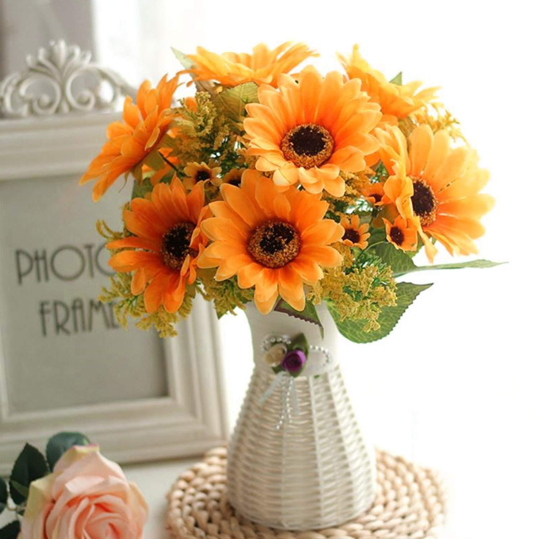 Amazon Yinhua 4 Pcs Artificial Sunflower Silk Flowers Bouquet Home fice Wedding Party Garden Centerpieces Arrangements Perfect Decoration Home &