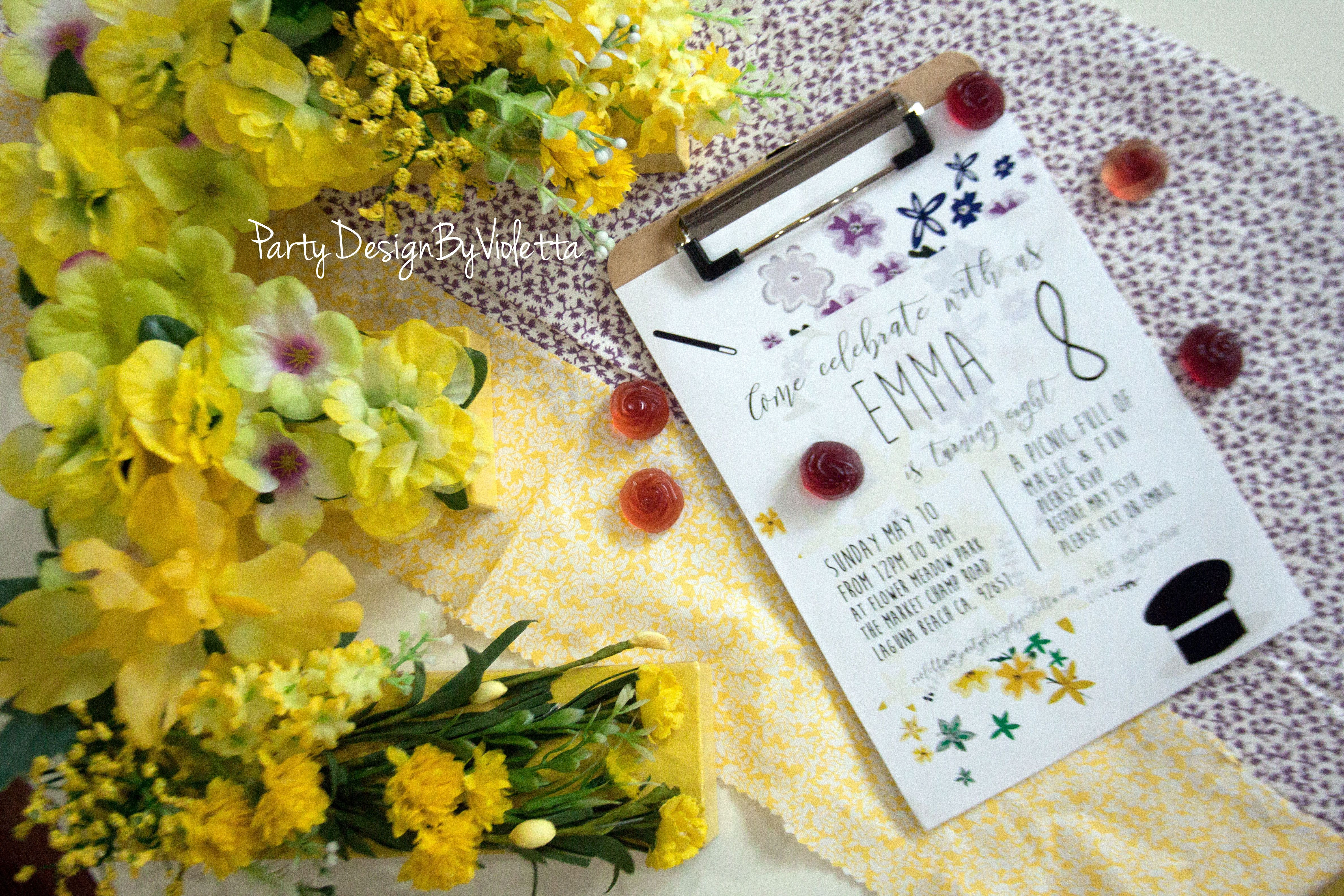 Sunday Flower Delivery Awesome Magic Flower Picnic Party Printable Kit Ready to Use theme Party
