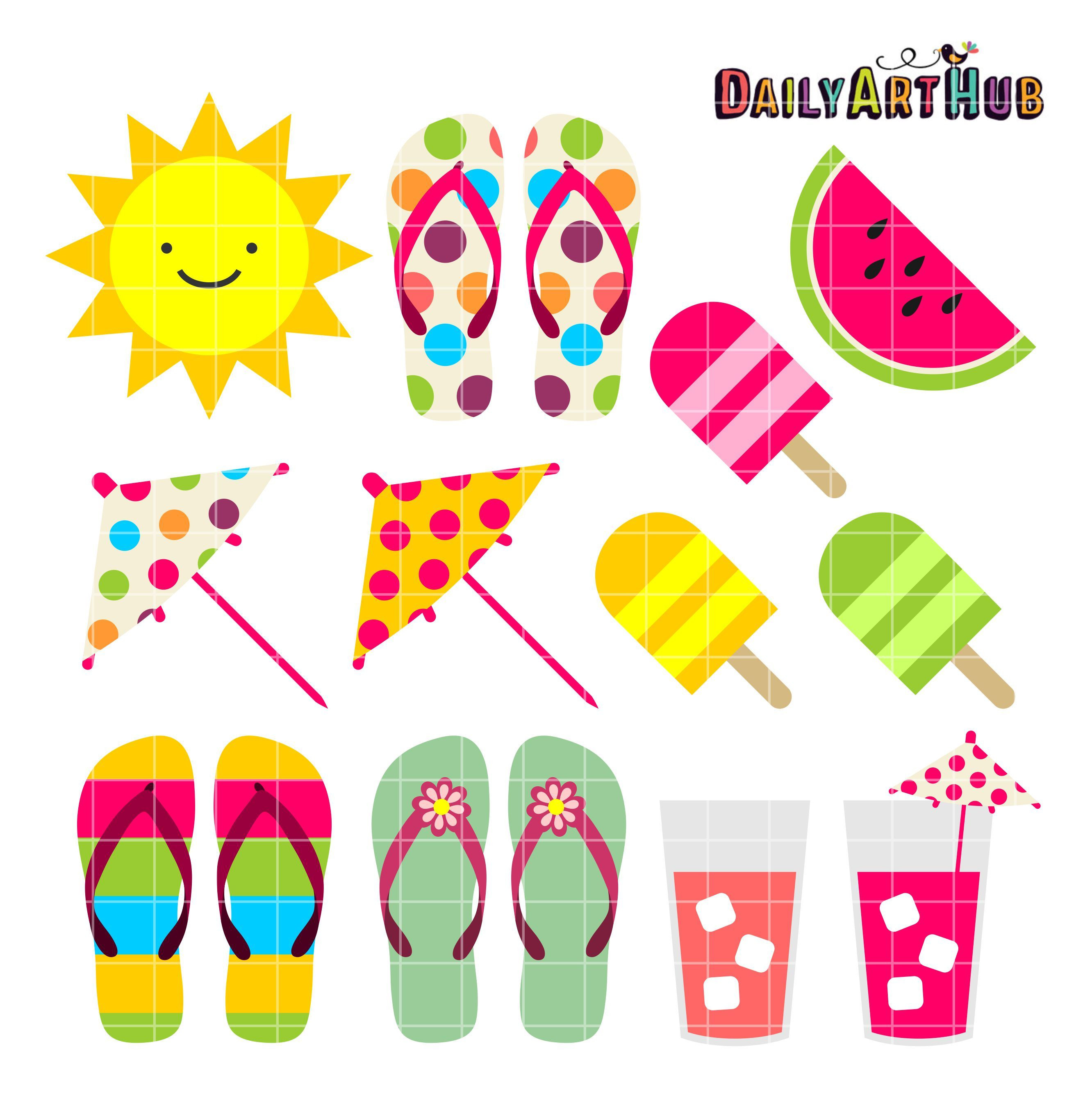 FREE Summer Things Clip Art Set