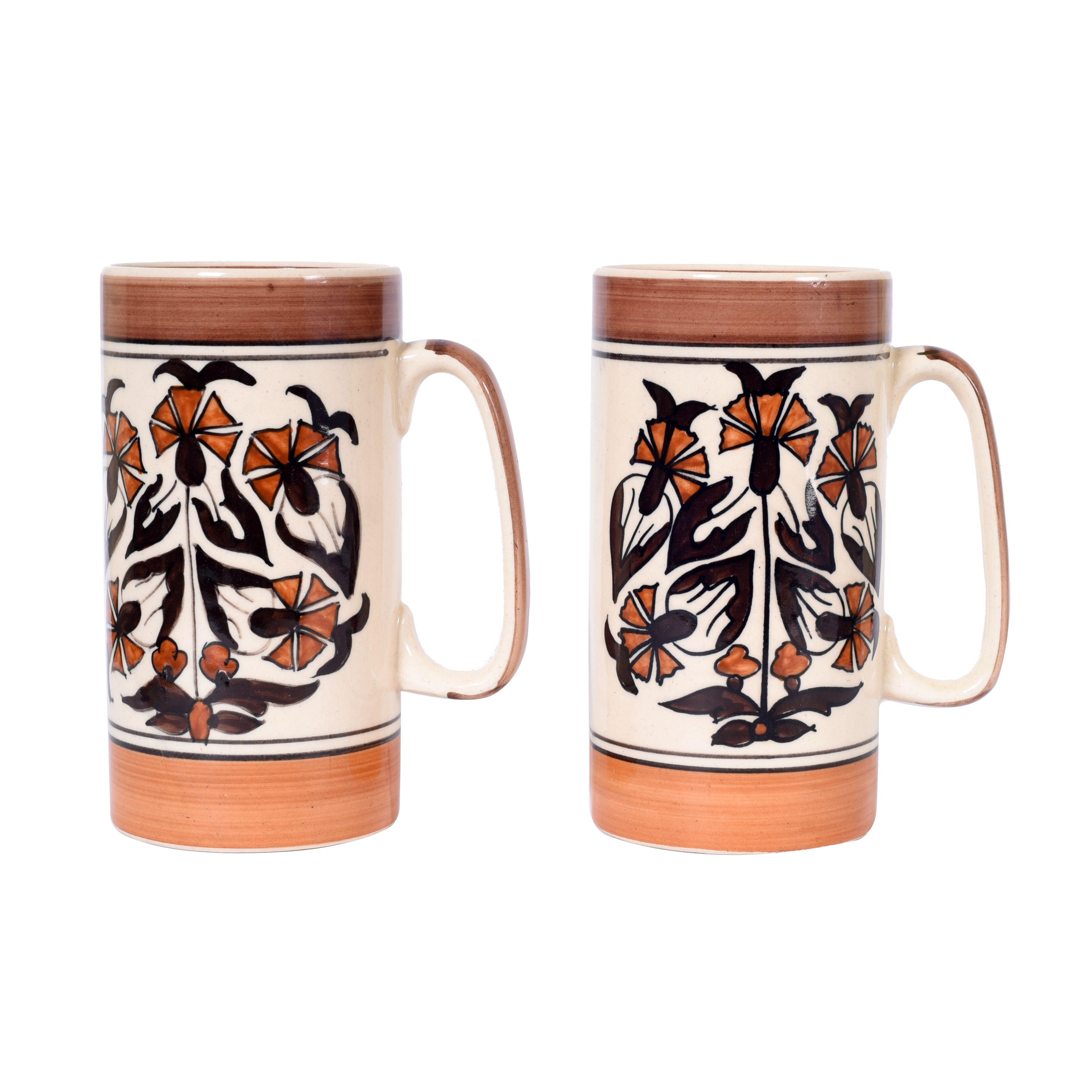 Unravel India Ceramic Milk Mug 2 Pcs 100 ml