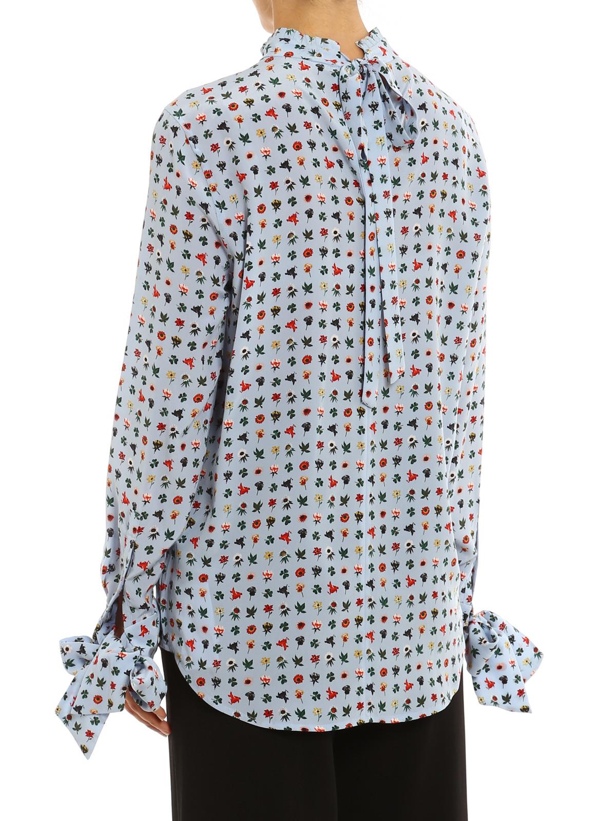 Aurora floral silk blouse