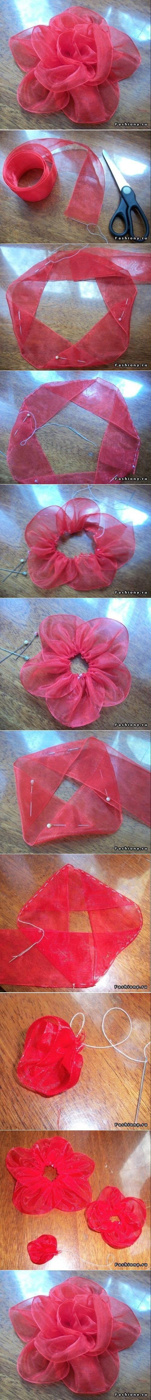 DIY Cinta Cinta de la flor DIY Proyectos