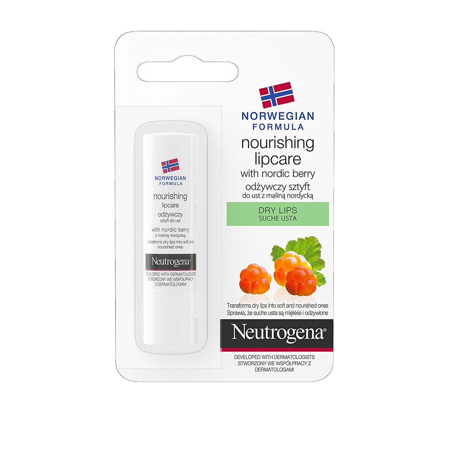Neutrogena Norwegian Formula Nourishing Lip Care with Nordic Berry Dry Lips 4 8g Amazon Beauty